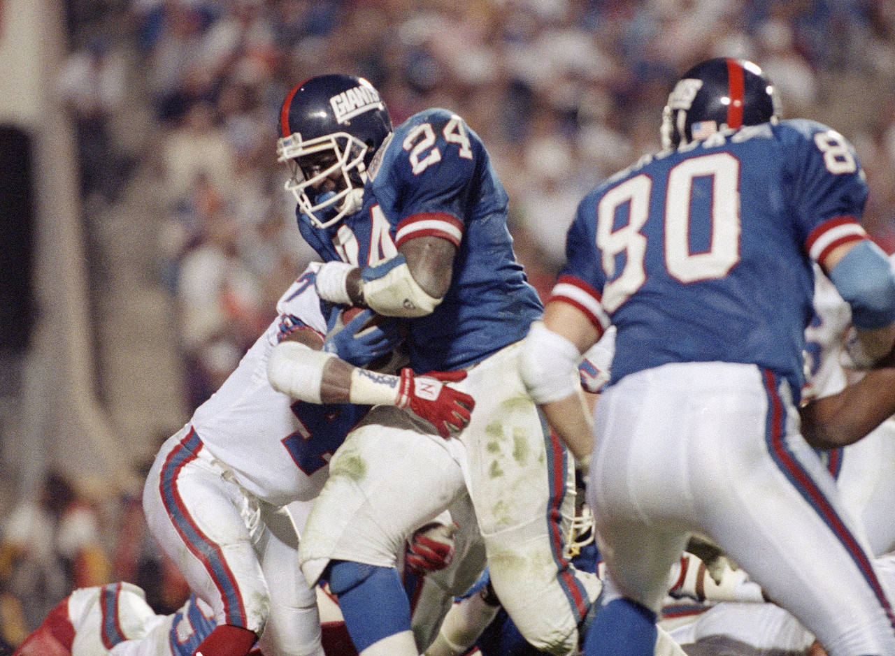 "The MVP of Super Bowl XXV, Anderson's signature moment always will be NFL Films' slow-motion take of his <a href=""http://www.giants.com/videos/videos/Super-Bowl-Moment-No-6/973e51e4-dbc5-46dd-ac63-14108f26d37f"" target=""new"">forearm uppercut against Mark Kelso</a>. While Anderson's Giants won that Super Bowl on the strength of his 102 rushing yards and one touchdown, ""O.J."" likely will lose in the Hall of Fame game ... as in, the voting process. For starters, Anderson has been eligible for 15 years and not received much of a sniff. He rushed for 10,273 yards over an impressive 14-year career, but the bulk of that good work was done for a St. Louis Cardinals team that accomplished little.</p> <p><b>Hall probability:</b> Slim to none."