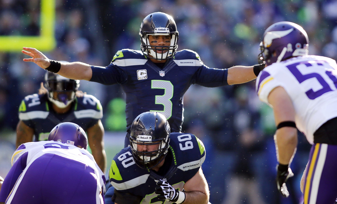 Max Unger 2013 Max Unger Russell Wilson