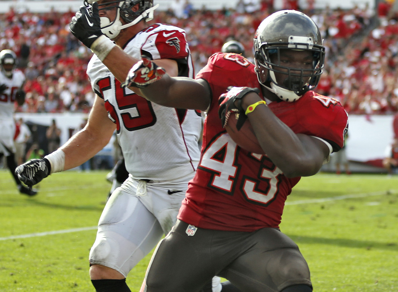 First it was Doug Martin lost for the season. Then Mike James. Now the top spot on the Buccaneers' depth chart belongs to Rainey, who went nuts against the Atlanta Falcons. He finished with 163 yards on the ground and three total touchdowns, which was good for 34.7 fantasy points. Rainey clearly needs to be owned in all fantasy leagues.