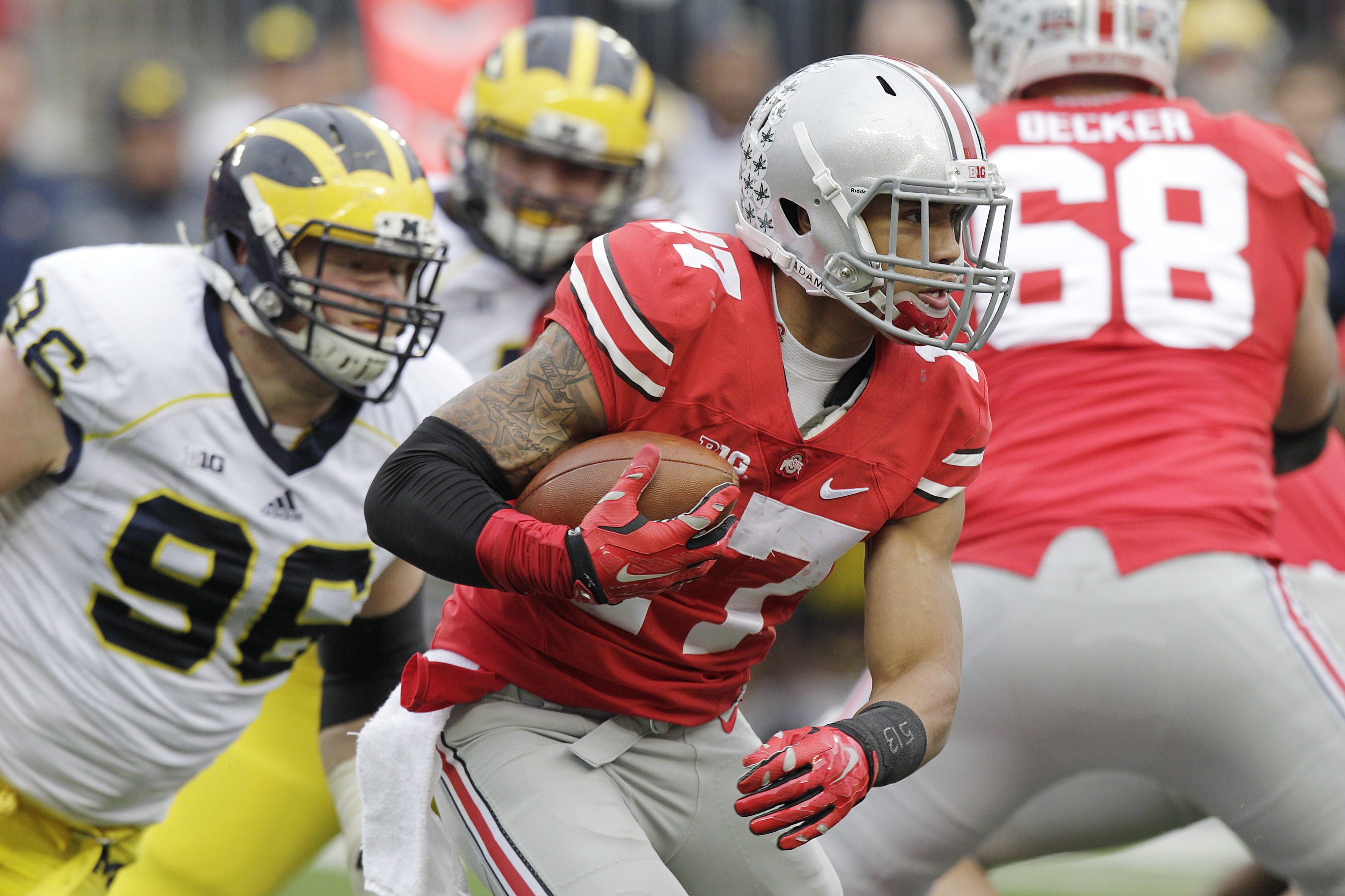 First game: 1897 <br>Total games: 111 <br>Series record: Michigan leads, 58-47-6 <br>Nickname: The Game<p>  (Jay LaPrete/Associated Press)
