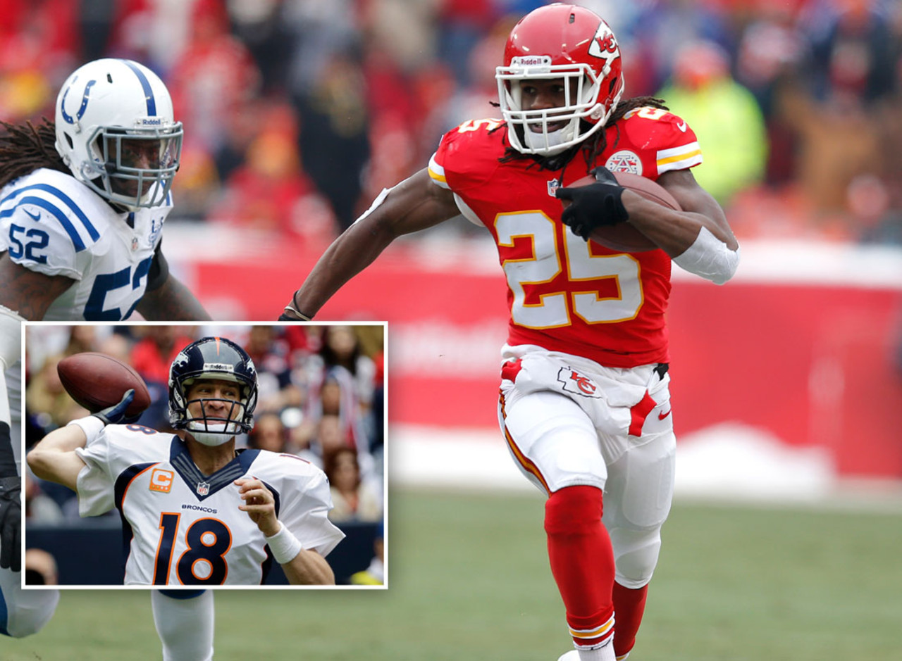Jamaal Charles, RB, Kansas City Chiefs: <br> Almost 30 percent of NFL.com fantasy football championship teams fielded Charles, who led all running backs in fantasy points with an impressive 308.00 this season. The superstar runner out of Texas also averaged a ridiculous 33.2 fantasy points for owners during the course of the fantasy postseason (Weeks 14-16). <br><br>  (Runner-up: Peyton Manning, QB, Denver Broncos)