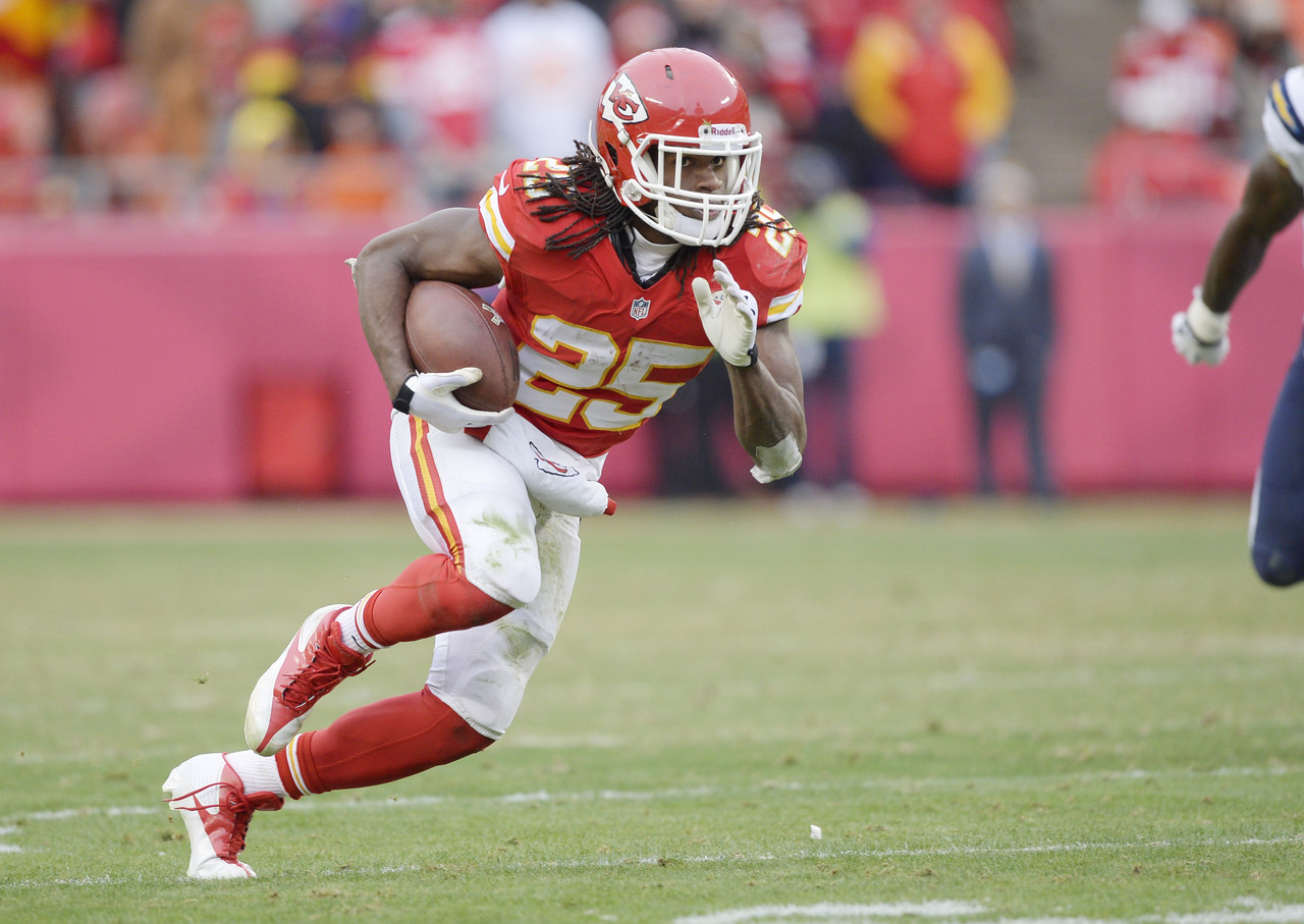 Since 2010, Charles has finished no worse than eighth in fantasy points among running backs in his last three full seasons. He had his best campaign in 2013, scoring 19 touchdowns with 70 catches while leading all runners in fantasy points. At the age of 27, Charles has plenty left in the tank.