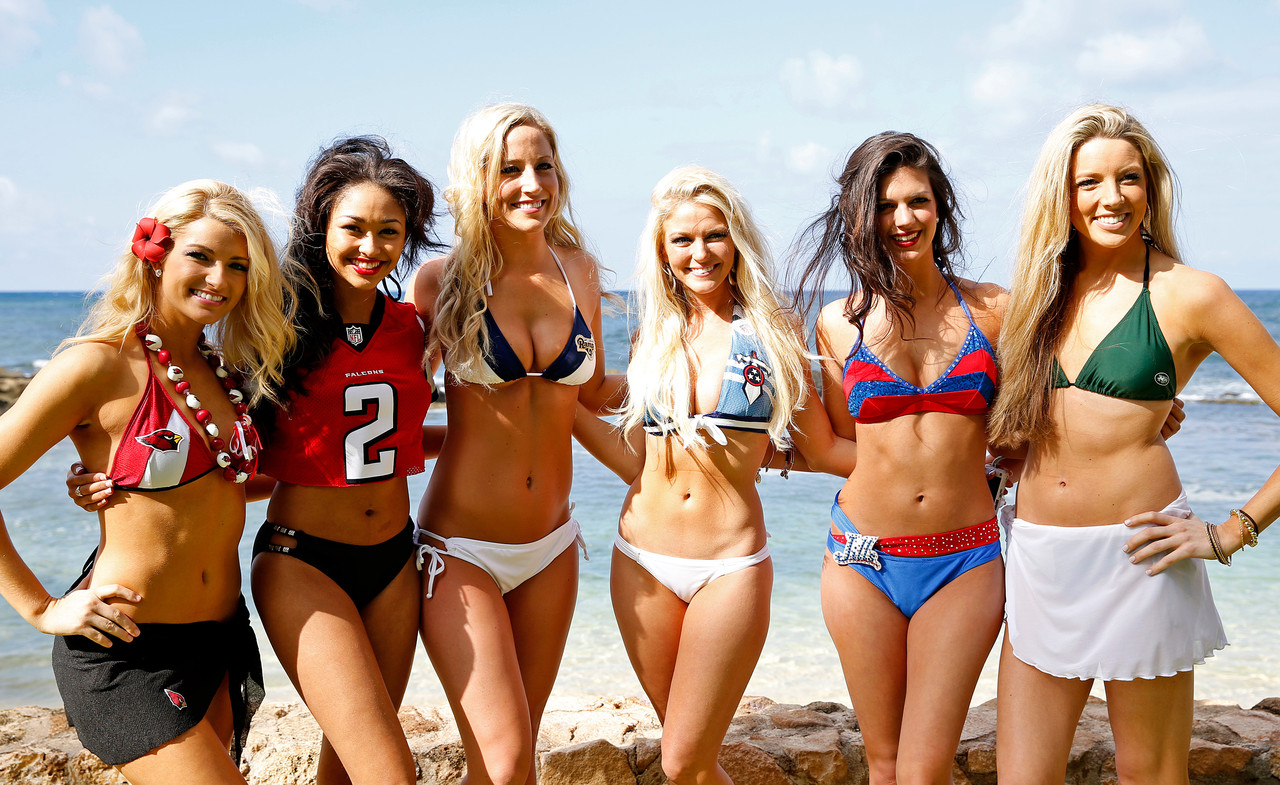 Consider, nfl cheerleaders bikini right! Idea