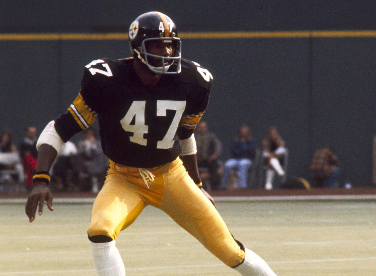 652eb99a7ae ... Mel Blount - Southern University Nike Game Mel Blount GoldBlack Mens  Jersey - Pittsburgh Steelers 47 NFL ...