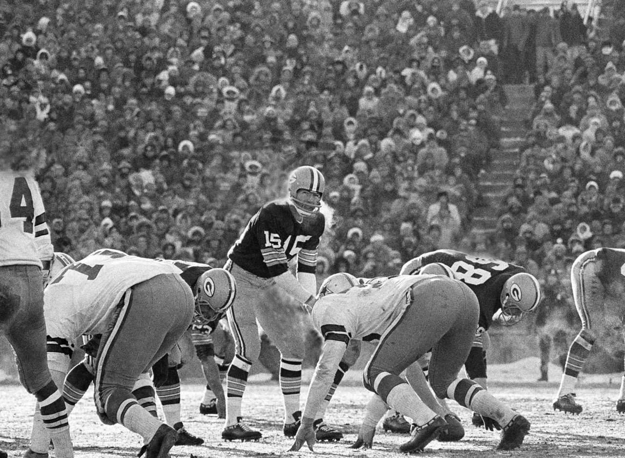 If Aaron Rodgers has another season like he had in 2014, we might have to revisit this, but for now, Starr has to be the choice here. He went 9-1 in the postseason and ultimately had the Packers on top five times, leading them to capture the pre-Super Bowl-era NFL Championship in 1961, 1962 and 1965, then directing them to victory in Super Bowls I and II. His legacy is that of a winner.