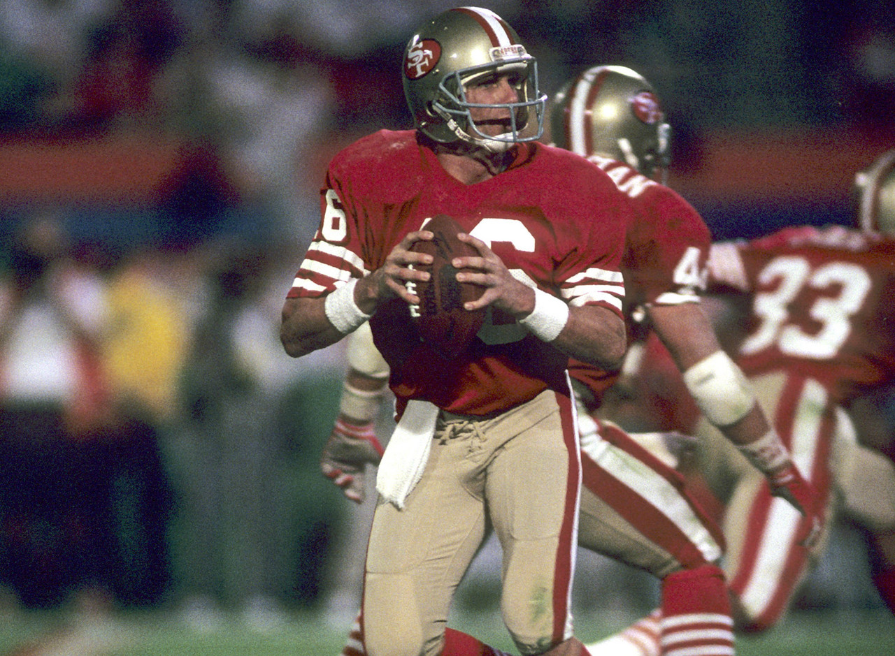 Montana is perhaps the greatest quarterback in the history of pro football -- and he's also easily the best in the Super Bowl's nearly 50 years. In four Super Bowl appearances, Montana went 4-0 with three MVPs, 11 touchdowns and zero picks ... oh, and a 127.8 passer rating.