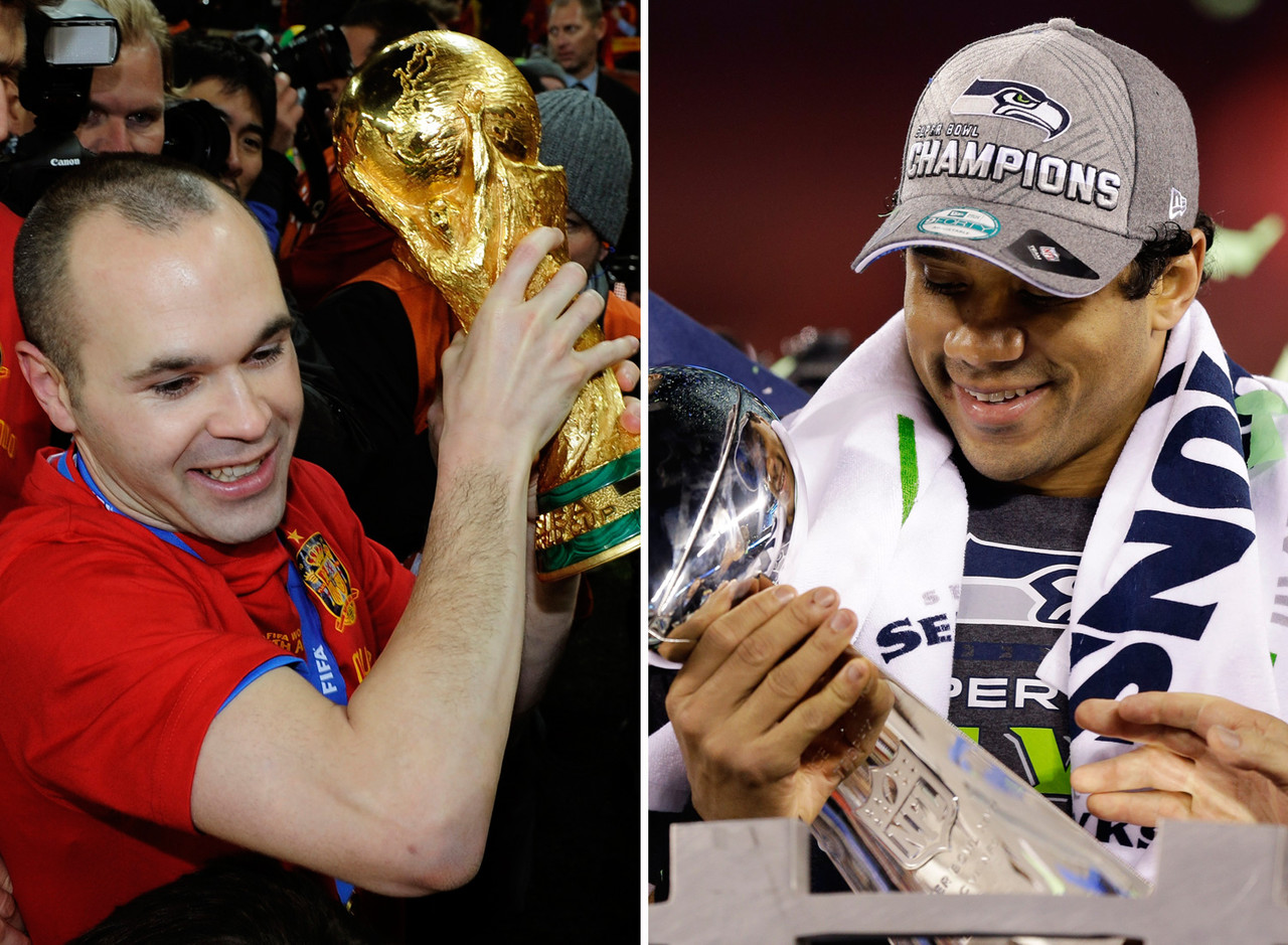 It only makes sense to pair the reigning World Cup champions with the most recent Super Bowl winners. Russell Wilson dazzles at distribution almost as well as Spain's brilliant midfielders, and Sergio Ramos, Gerard Pique and Iker Casillas operate as a competent stand-in for soccer's Legion of Boom. Spain's World Cup run has come to an end, but the Seahawks are built for long-term success with a talent-rich roster full of young players with cap-friendly deals.