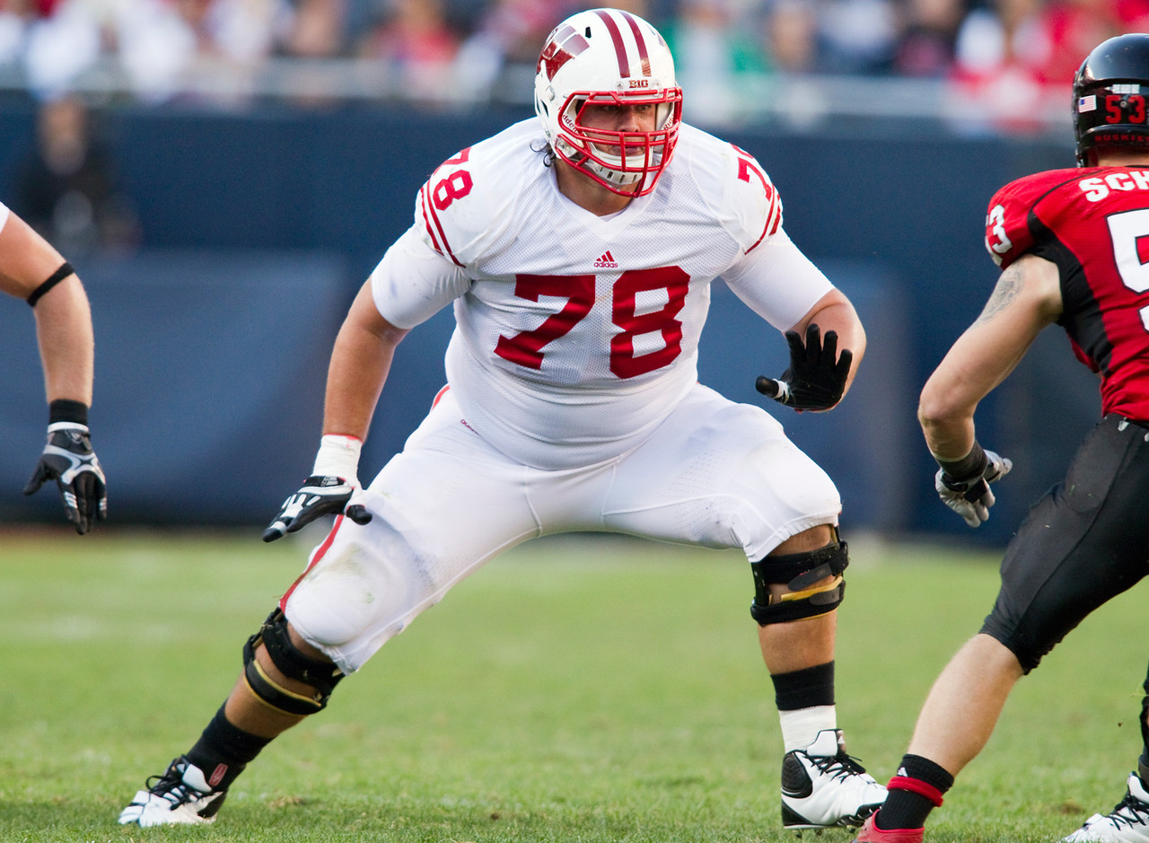 "<b>Particulars:</b> 6-8, 335, senior <br><b>Buzz:</b> In Havenstein, the Badgers return a third-year starter at right tackle who embodies the big, physical style of play Wisconsin's offensive front is known for. He was a second-team all-conference pick by Big Ten coaches last year and will make his 28th consecutive start when the Badgers take on LSU to open the season Aug. 30. ""He works hard. He comes to practice every single day and works as hard as anybody in that group,"" <a href=""http://www.jsonline.com/sports/badgers/uw-tackle-rob-havenstein-passes-on-nfl-to-build-his-foundation-b99174172z1-238199061.html"" target=""new"">said his position coach, T.J. Woods</a>, prior to the Badgers' bowl game. ""And I think he genuinely cares about being perfect and sharpening his sword and perfecting his craft."""