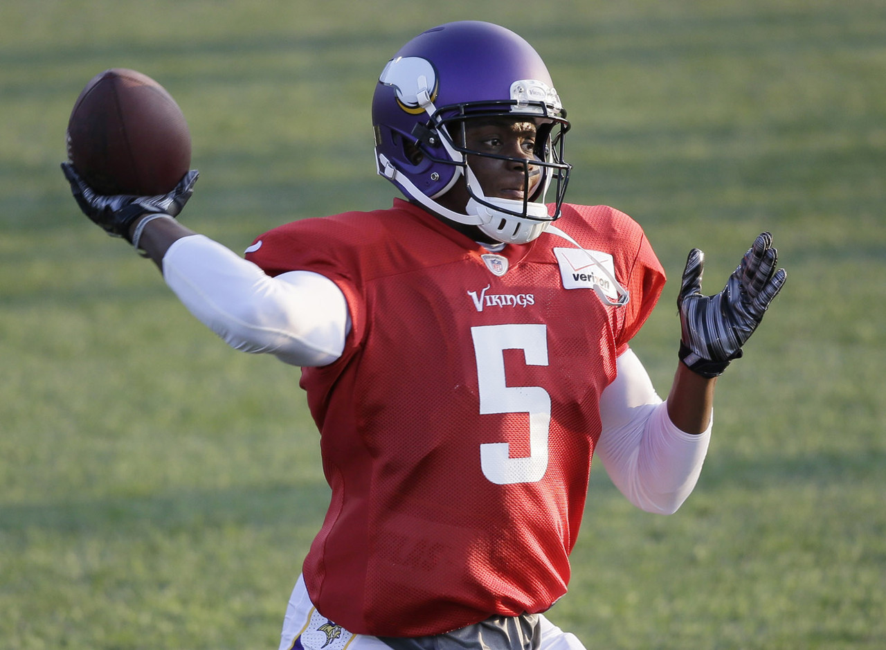 Bridgewater isn't considered the favorite to start in Week 1, but he will be allowed every chance to surpass Matt Cassel for the top spot on the depth chart in training camp. He's entering a great position, as the Vikings have some talented young players in their pass attack and a future Hall of Famer in the backfield in Adrian Peterson. Should he win the No. 1 spot, Bridgewater's stock will rise to QB2 heights.