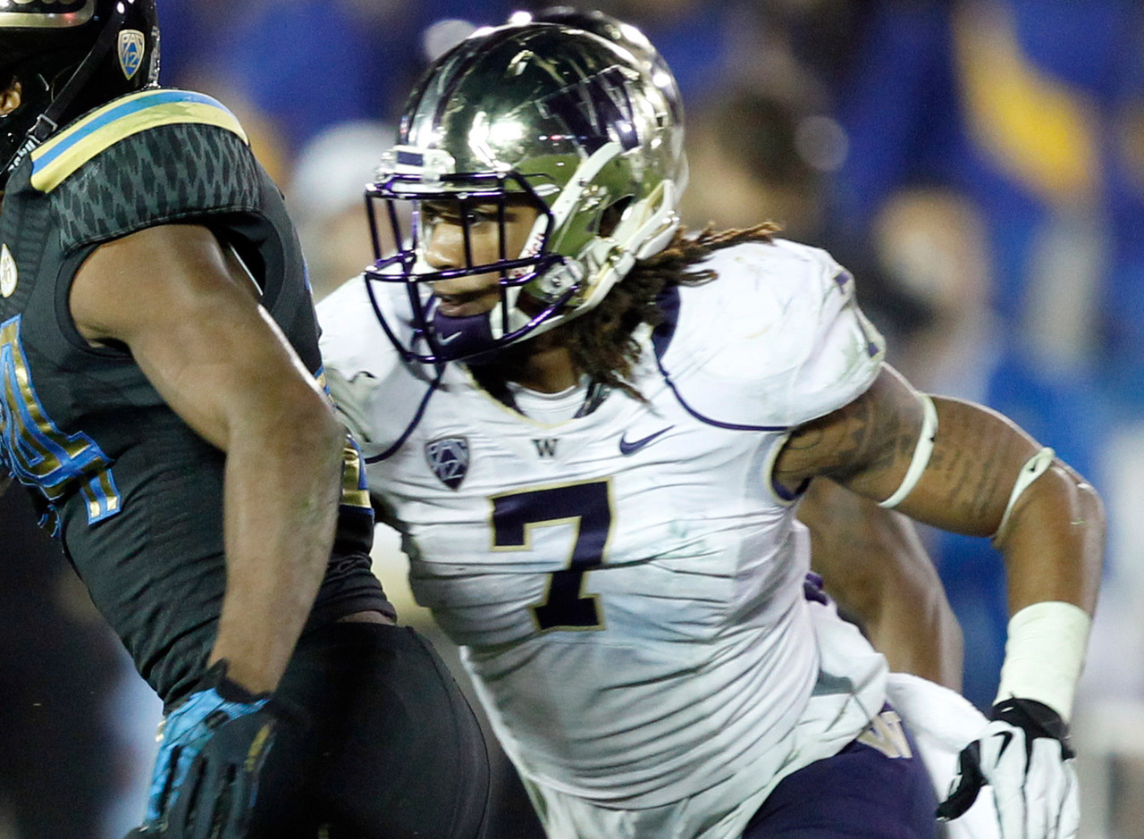 <b>Particulars:</b> 6-1, 228, junior <br><b>Buzz:</b> Thompson is one of the brightest young talents in the Pac-12, and has been outstanding at two positions in two seasons with the Huskies. He started as a nickel back as a freshman in 2012, making 74 tackles, 8.5 for losses, and three interceptions. Last year he moved to linebacker and was just as effective, ranking second on the team with 78 stops. This year, Thompson returns with yet another role in the works: running back. Though primarily a linebacker, Thompson is expected to pitch in for the Huskies in the offensive backfield. Watch out, Myles Jack -- you have company.