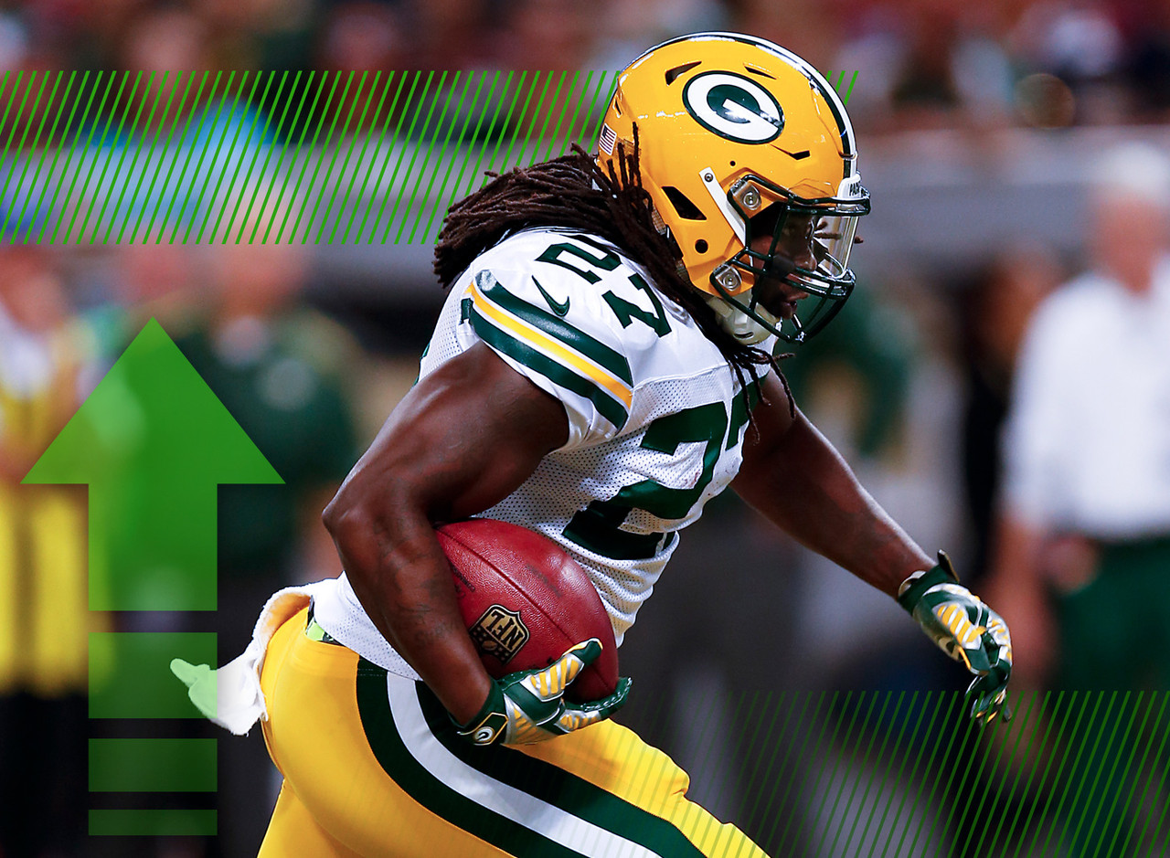 "Lacy had a rough go in Week 1, grinding out a few hard yards against Seattle before missing most of the second half with a concussion. Well, Lacy is <a href=""http://www.nfl.com/news/story/0ap3000000392963/article/injury-roundup-eddie-lacy-returns-to-packers-practice"" tartet=""new"">back at practice</a> and should see plenty of opportunities against the Jets. They have a stout defensive line, but Lacy is a good bet to produce in Week 2 given the potency of his offense."
