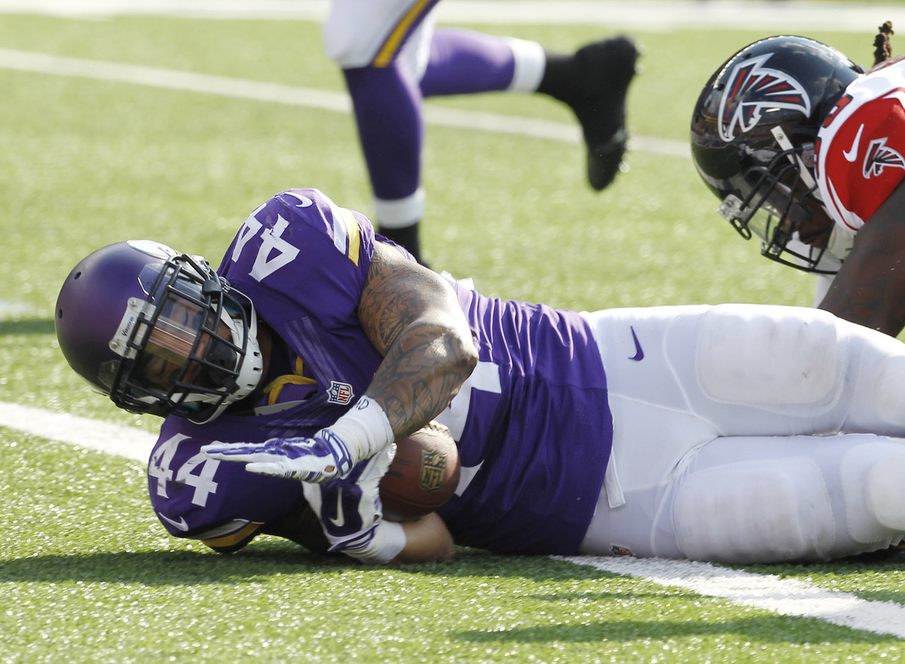 """No one has a definitive answer to the question ... will Adrian Peterson return to the Vikings this season? Regardless, I'm surprised more people haven't jumped on the Asiata bandwagon. After all, he's now the lead back in an offense that has leaned on him as a bell cow. Asiata has responded with double-digit fantasy points in two of his last three games, including 28.00 points versus the Atlanta Falcons. Check out some <a href=""""http://www.nfl.com/now/share?id=a621237b-4f25-4bd0-bdc3-c90c6b77935a"""" target=""""new"""">additional fantasy analysis of Asiata on NFL NOW</a>."""