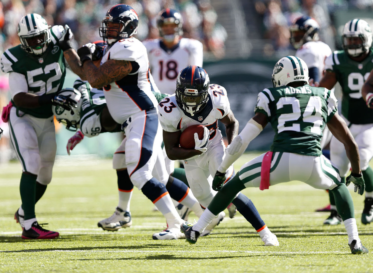 If there were any questions about who would take over as the Broncos' top running back in the absence of Montee Ball, well, it looks like Hillman is the answer. He carried the football 24 times and had 27 touches against the New York Jets, recording 116 yards in a 31-17 win. While an upcoming matchup against the San Francisco 49ers isn't very favorable, Hillman does need to be owned in all leagues while Ball is out.