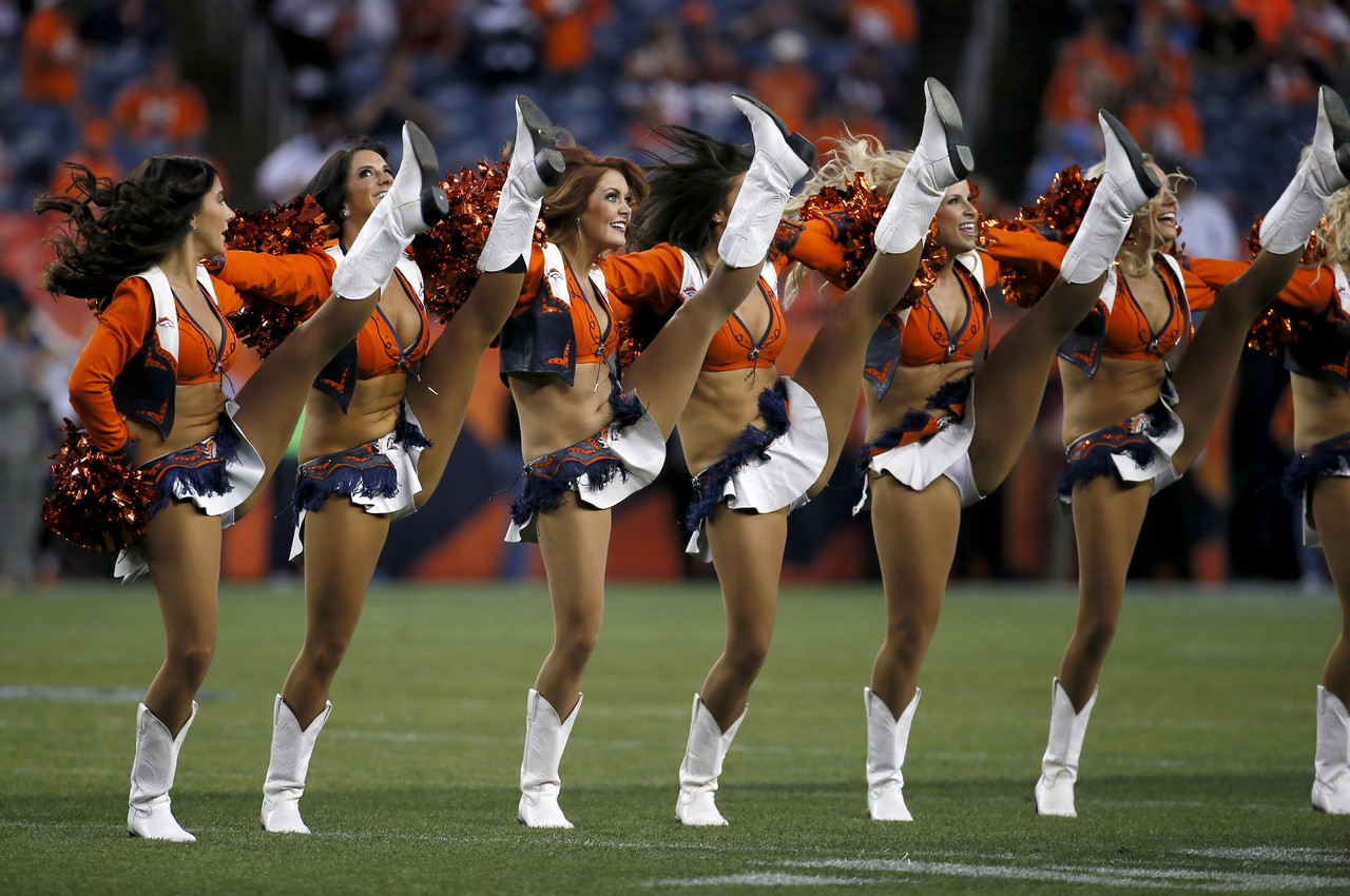 The Denver Broncos Cheerleaders Perform Prior To An Nfl
