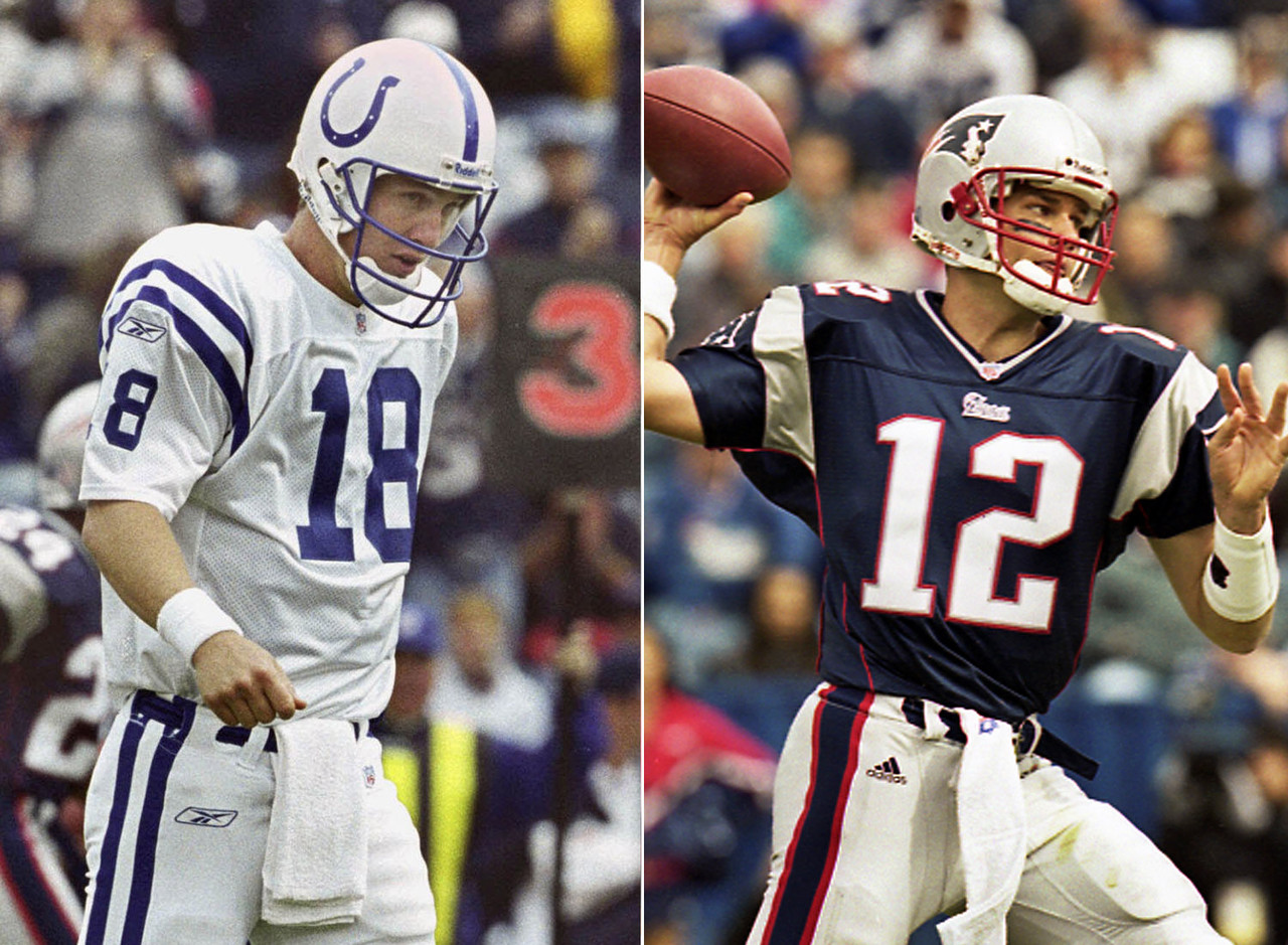 "September 30, 2001  Tom Brady makes the first start of his NFL career, and he leads the Patriots to a 44-13 win. Brady didn't throw a touchdown, but he didn't throw an interception, either. Manning was picked off three times. Brady is heard saying, ""This starting stuff is easy."""
