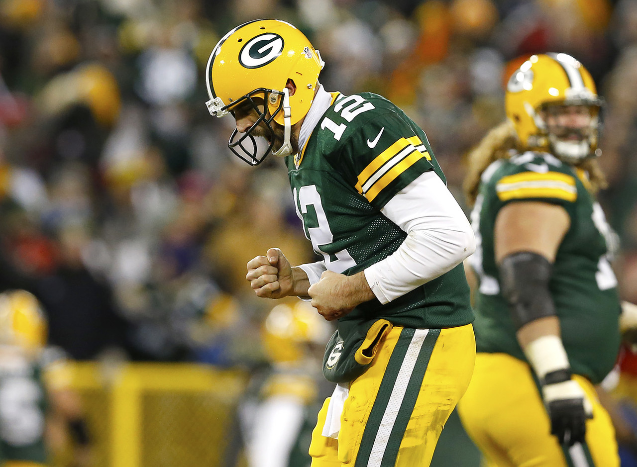 <p>As I'm sure you've heard by now, Rodgers has thrown 31 touchdown passes and 360 consecutive pass attempts in Lambeau Field since his last interception. He's facing a weak Atlanta defense to boot, so it's no wonder he's this week's top ranked player.</p>