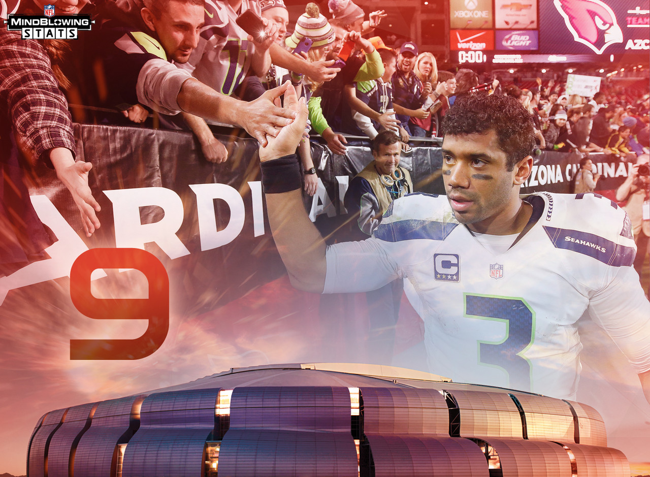 There have been just nine starting QBs to win a game at the Super Bowl stadium in the regular season and then win the Super Bowl that same season. The last to do it: Russell Wilson, who led the Seahawks to a 23-0 victory over the Giants in 2013 at Metlife Stadium. Wilson's Seahawks won Super Bowl XLVIII by 35 points, giving Wilson the largest combined margin of victory in the two games (58 points). Tom Brady's Patriots have the smallest combined margin of victory for two wins in a Super Bowl season - his 2003 Patriots needed overtime to beat the Houston Texans 23-20 at Reliant Stadium, then went on to win Super Bowl XXXVIII 32-29 against the Carolina Panthers. Wilson is the only QB remaining who played at University of Phoenix Stadium this year - a 35-6 win.