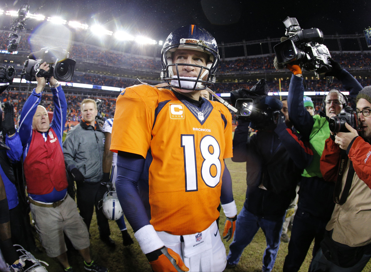 """You have to believe that the all-time great will call it a career following the 2015 campaign. After injuries marred the last few months of his 2014 season, Manning paused before announcing he was returning for another year. And who could blame him? Peyton's play in December and during <a href=""""http://www.nfl.com/gamecenter/2015011101/2014/POST19/colts@broncos"""">the home playoff loss to Indianapolis</a> equaled one of the worst stretches in his legendary career. Now, Manning still posted 4,727 passing yards and 39 touchdowns in 2014. He had a fine year. But, on the whole, it wasn't vintage Peyton. I envision the same -- and quite possibly worse, considering the players Denver lost in free agency -- in 2015. <br><br> By this time next year, Manning will be 40 years old. I bet the future Hall of Famer retires before he begins to resemble Willie Mays stumbling around the outfield in Shea Stadium."""