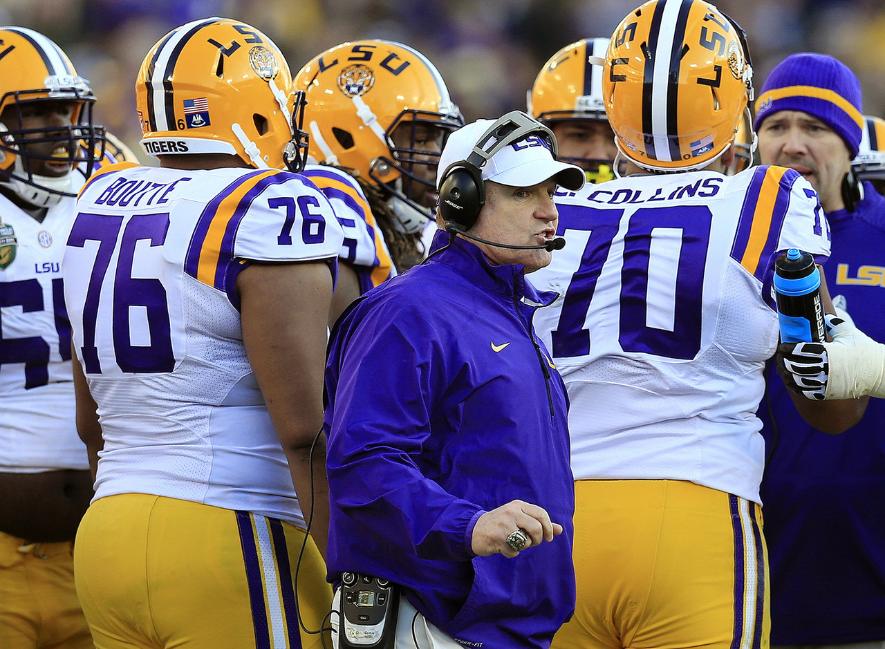 <b>Record:</b> 103-29 in 10 seasons<br> <b>The skinny:</b> It's hard to imagine LSU getting rid of Miles, who has averaged 10 wins per season and has won a national title. But SEC programs are notoriously quick on the trigger, and while all SEC fan bases are demanding, LSU's is especially so. LSU is coming off an 8-5 season, which is tied for the worst mark during Miles' tenure. Miles recruits at a high level, especially on defense. But the Tigers' offense has struggled the past few seasons. LSU was 4-4 in conference play last season, and the last time the Tigers had back-to-back seasons of .500 or less in SEC games was 1998 and 1999. The coach was Gerry DiNardo, and he was fired late in the 1999 season. Again, it's extremely difficult to imagine that fate for Miles, but if LSU goes 8-5 again (or, heaven forbid, worse) ...