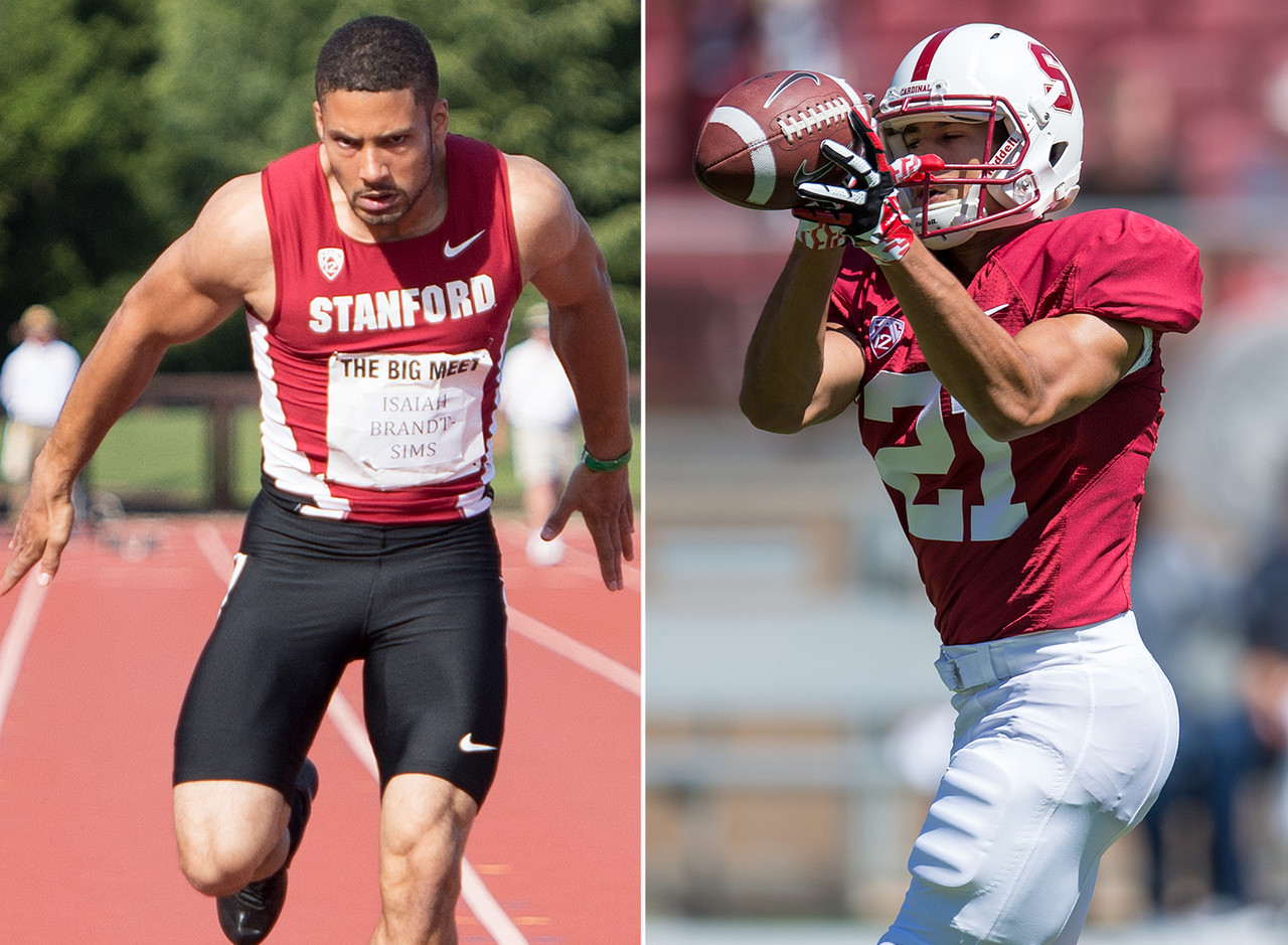 Stanford is home to a number of quality two-sport athletes, and Brandt-Sims appears to be the latest member of the club. He redshirted for the football team last season, but is expected to contribute at wide receiver and on special teams in 2015 after an all-state career in high school as a tailback. He really tears it up on the track, though, having won the Washington state 100- and 200-meter titles all four years of his high school career. He recently posted the nation's fourth-best mark among football players in the 200-meter dash for the Cardinal track team.