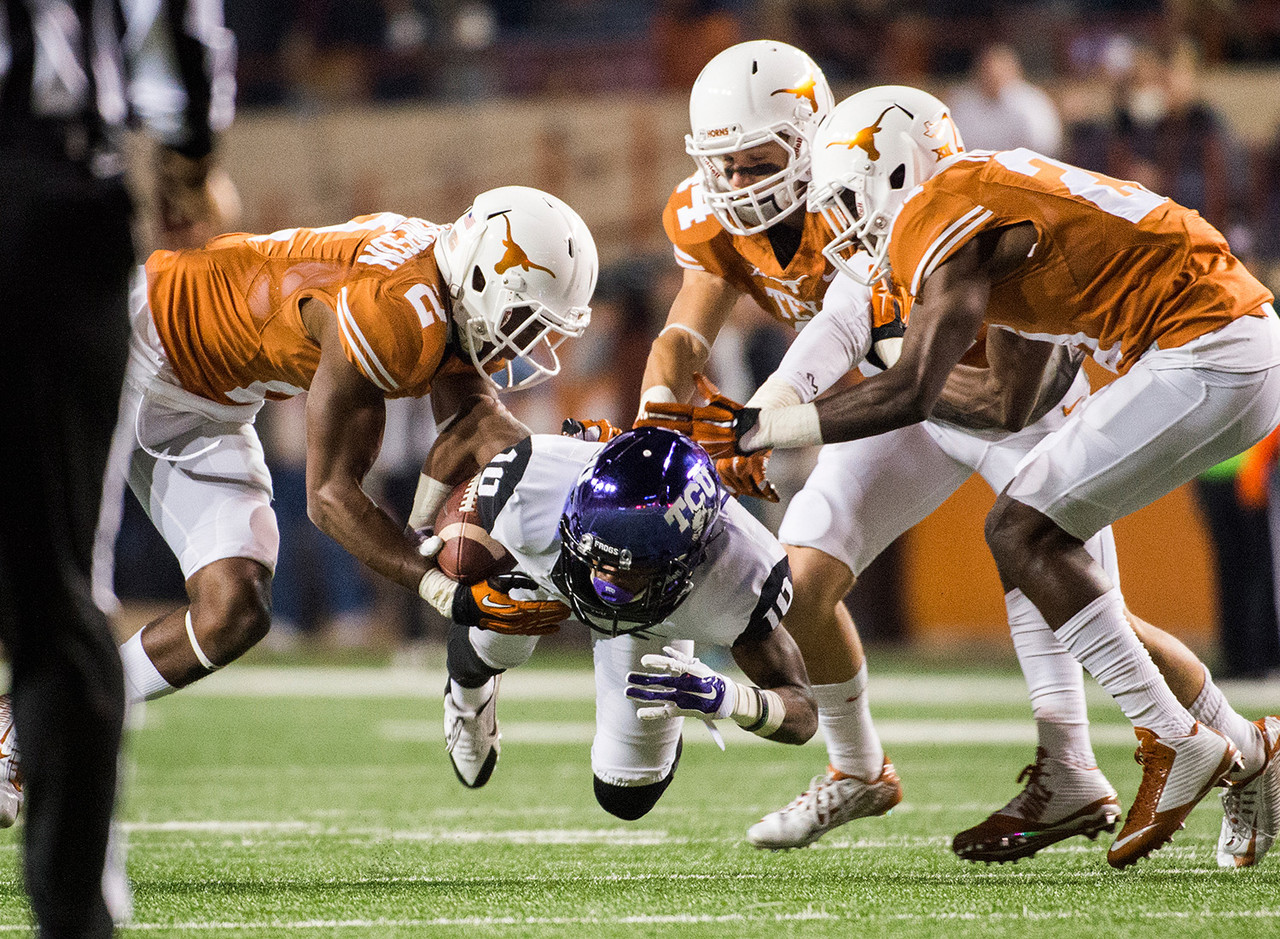 <b>Size</b>: 5-7, 150 <br><b>Buzz</b>: A backup last year in the Horned Frogs' prolific offense, White averaged about one catch per game as a freshman. All the team's top receivers from last year return, including the No. 1 target, Josh Doctson, so the pecking order for White isn't getting any easier.