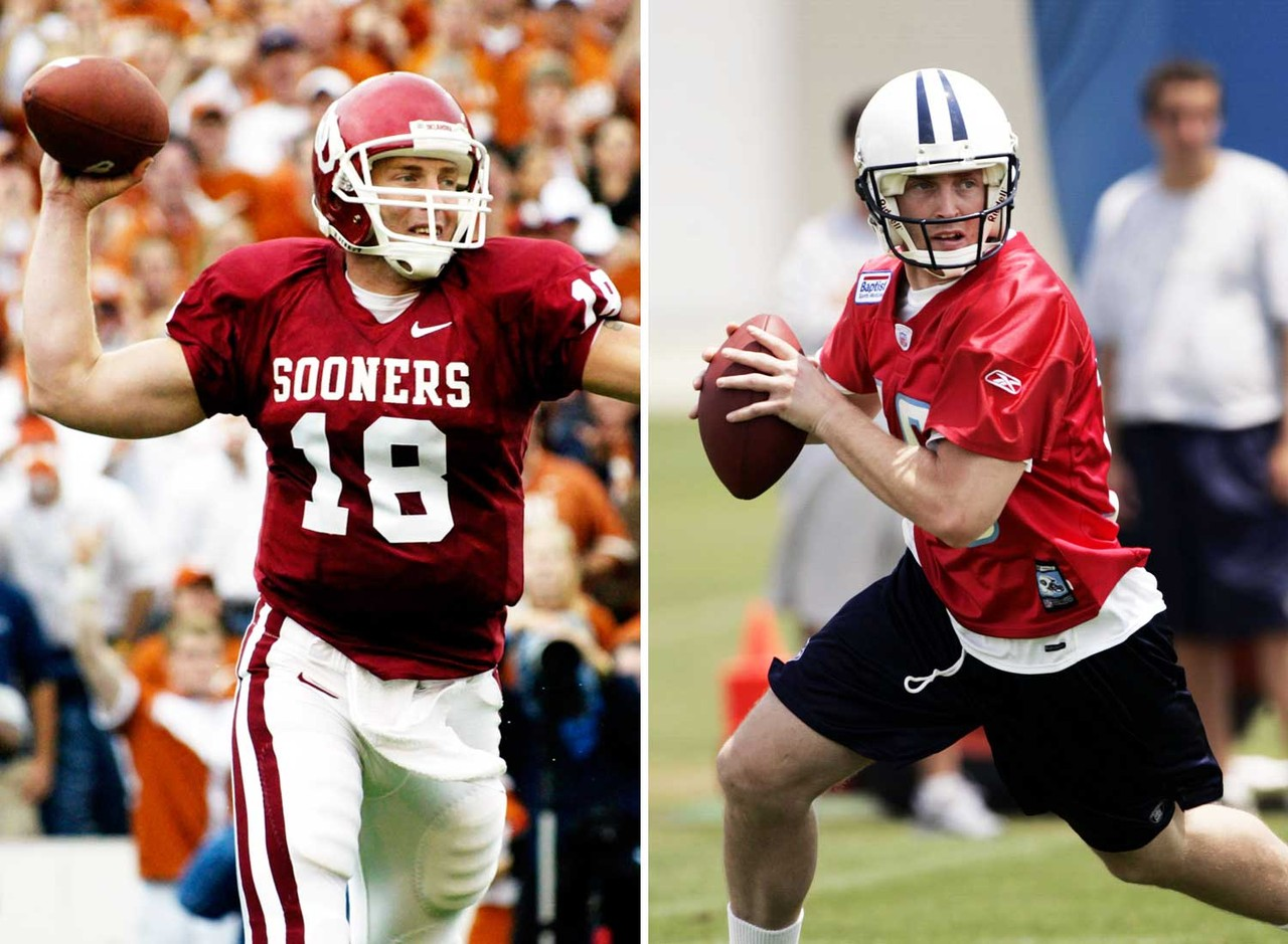 "<b>College:</b> Oklahoma <br><b>National championships:</b> 0 <br><b>NFL draft:</b> Undrafted <br><b>NFL seasons:</b> 0 | <b>Pro Bowls:</b> 0 <br><br> More Heisman Trophy winners <a href=""/photoessays/0ap2000000297440"" target=""new"">have gone undrafted</a> (15) than have made <a href=""http://www.profootballhof.com/hof/story.aspx?story_id=1992"" target=""new"">the Pro Football Hall of Fame</a> (9, with the induction of Tim Brown this year). White is the last Heisman winner to go undrafted. After winning the award in 2003, White was also a finalist in 2004, but finished third behind winner Matt Leinart and Adrian Peterson. White took OU to consecutive BCS title games, but lost both games (including a 55-19 dump trucking against Leinart-led USC). Despite his college success, White was not picked in the 2005 draft, had a tryout with the Kansas City Chiefs and eventually landed a free-agent contract with the Tennessee Titans, but retired from football, citing weak knees."