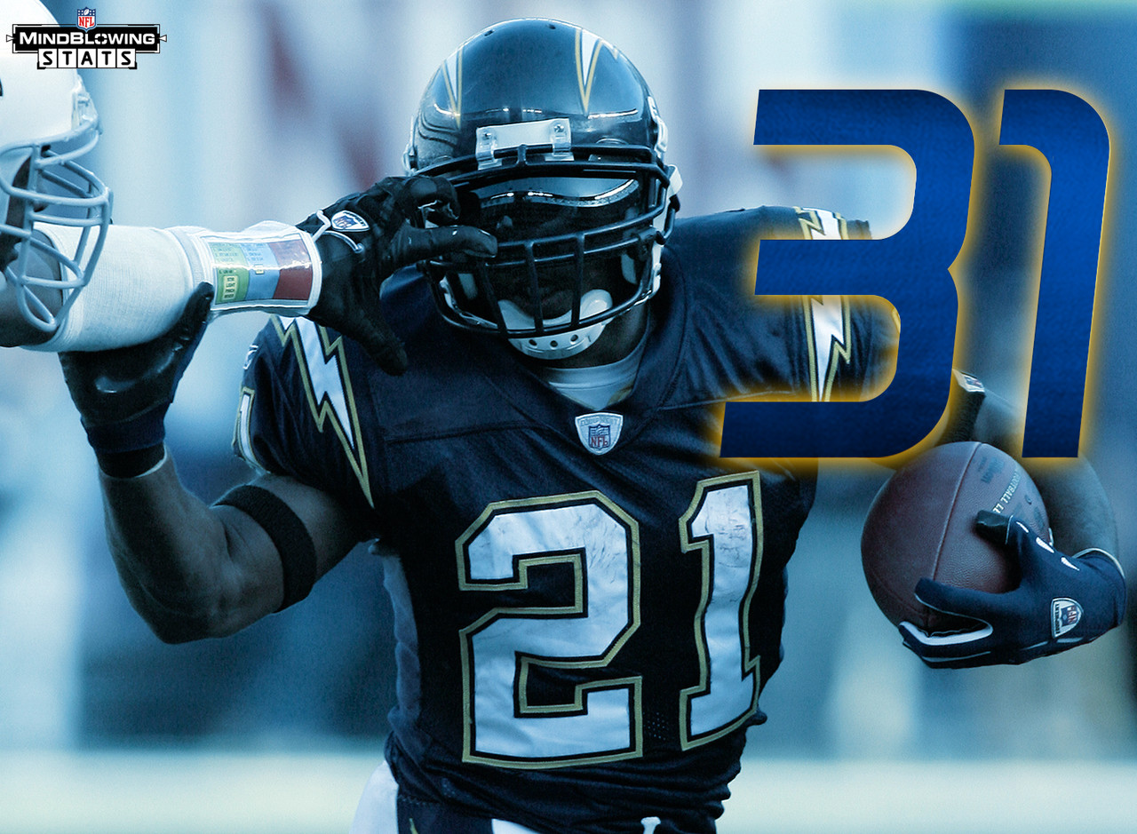 mind blowing stats for the san diego chargers com ladainian tomlinson