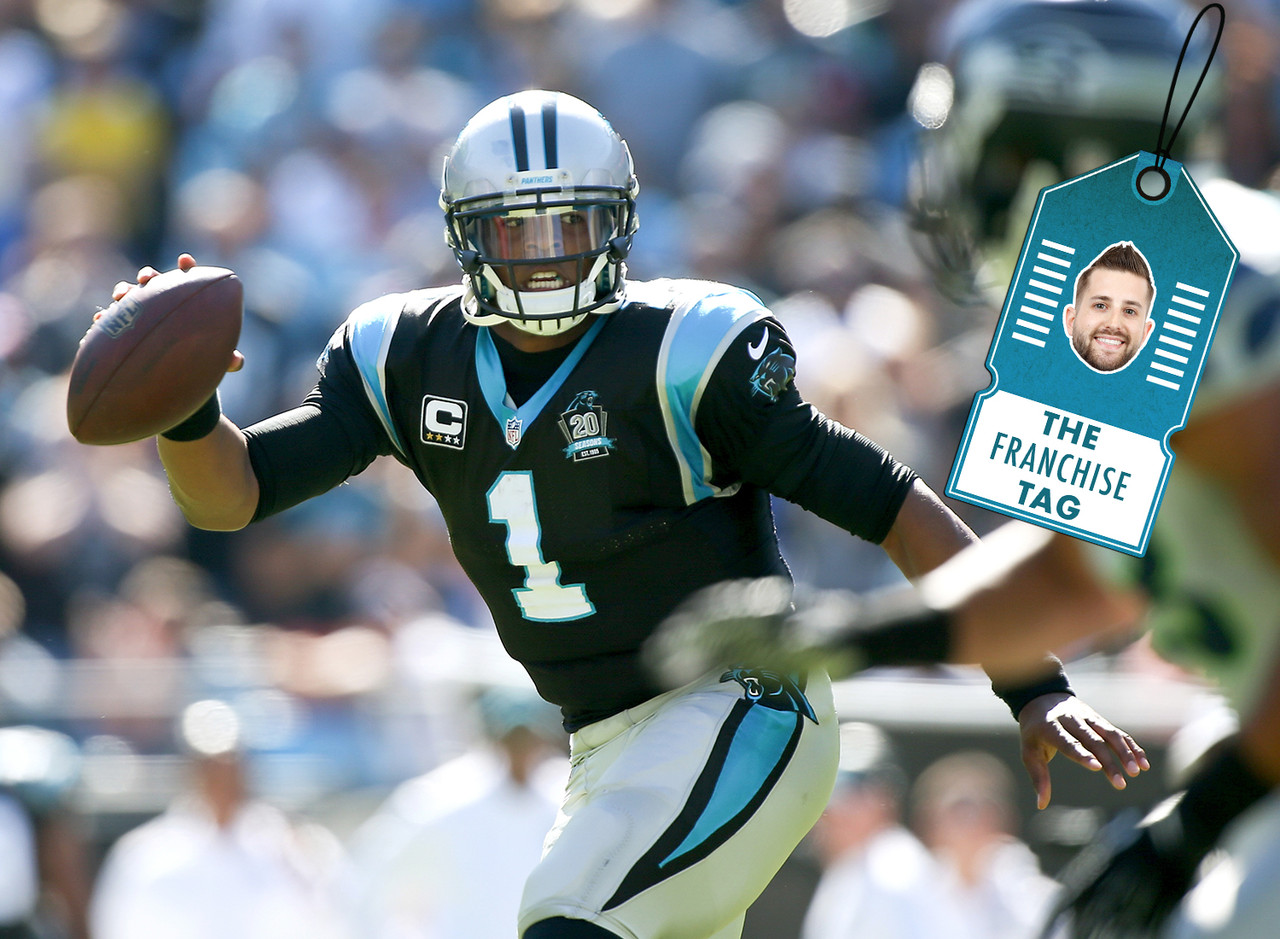 "<p>I like the Auburn product's <a href=""http://www.nfl.com/news/story/0ap3000000512027/article/carolina-panthers-training-camp-cam-newton-looking-good"" target=""new"">chances of a rebound</a> (yes, even without Kelvin Benjamin) so I'm endorsing him with my fantasy <strong>Franchise Tag</strong> for drafts this summer. He's 100 percent healthy following a season in which his main generator of fantasy production, his ability to run, was hampered by injuries. But once he regained his health the end of the season, that aspect returned to his game. He scored a rushing touchdown in each of his final three regular season contests, averaged 25.7 fantasy points per game and compiled 27 percent of his total fantasy points during that stretch. Despite the season ending injury to Benjamin, Newton, who as averaged 8.25 rushing scores over his four seasons in the league remains a great value in fantasy drafts this year. </p>"