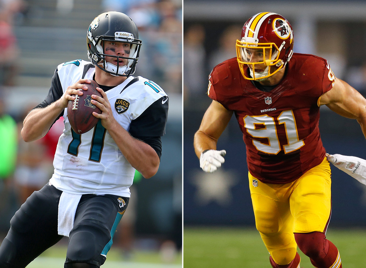 <b>Jaguars receive:</b> 2011 first-rounder (No. 10: QB Blaine Gabbert) <br><b>Redskins receive:</b> 2011 first-rounder (No. 16: DE Ryan Kerrigan), 2011 second-rounder (No. 49: Traded to Colts) <br><br> The pre-draft hype machine moved Gabbert into first-round consideration, and when it was all said and done, the Missouri product was a top-10 draft pick. The Jaguars thought they had their franchise quarterback of the future. Instead, Gabbert never developed into a viable starting quarterback and was dealt to the 49ers three years after being drafted. Kerrigan, meanwhile, is a defensive force for the Redskins, posting a career-high 13.5 sacks in 2014.