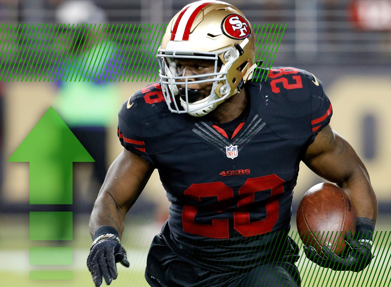 <p>Even the most die-hard 49ers fans had to be surprised by Hyde's Week 1 performance. The second-year back led the world with 30.20 fantasy points in the season opener and reminded everyone that the Niners still lead with their power run game. The Hyde hype is returning to pre-training camp levels.</p>
