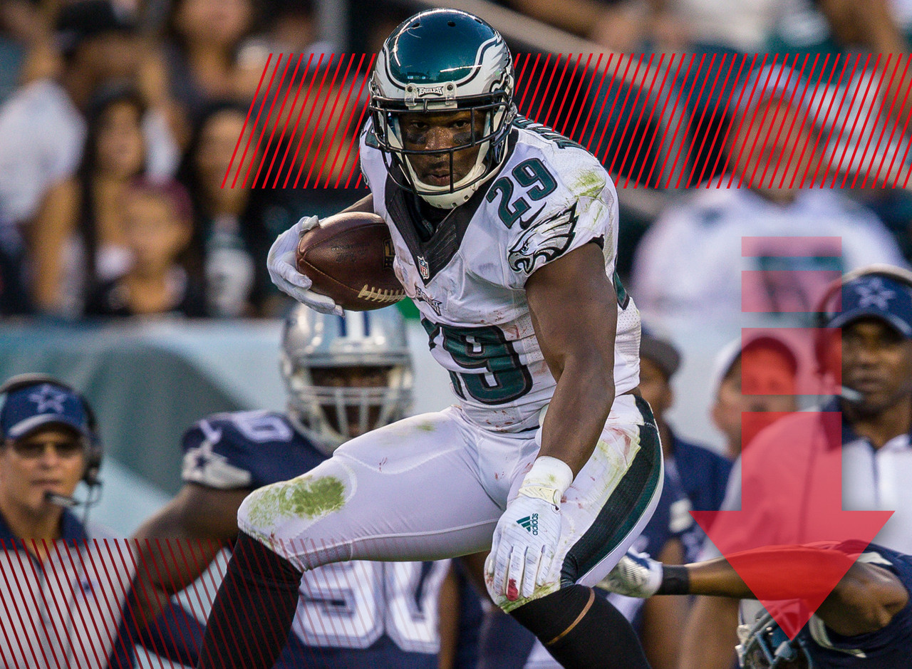 It didn't take Nostradamus to predict that Murray wouldn't duplicate his 2014 fantasy totals, but no one expected this. Through his first two games, the Eagles running back is on pace for 88 rushing yards (that's not a typo) and the Philadelphia offense is in complete disarray. It's likely going to get better, but people are rightfully concerned right now.