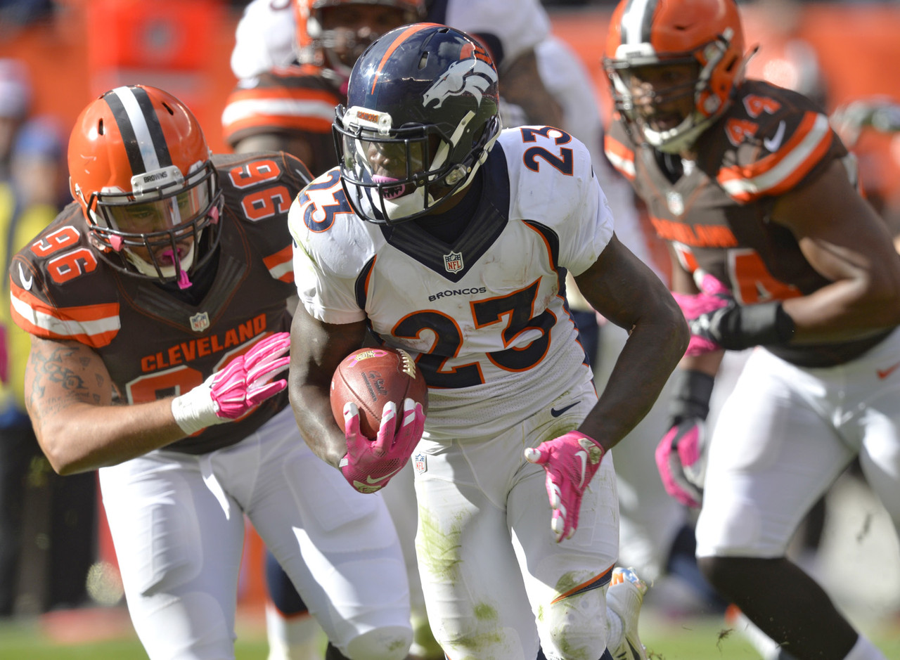 Hillman and C.J. Anderson split the offensive snaps on Sunday right down the middle, 42 to 42, but Hillman turned in the more effective day, rushing for 111 yards on 20 carries. Hillman is owned in almost half of the NFL.com leagues and is heading into his bye week, but I wanted to bring him into this space as a reminder that he's worth a bench stash. We're not buying in completely on Hillman as anything more than a potential flex starter for now (we've seen him flash like this before), but in terms of volume he is starting to pull away in the Denver backfield. <em>FAAB suggestion: 5-10 percent</em>