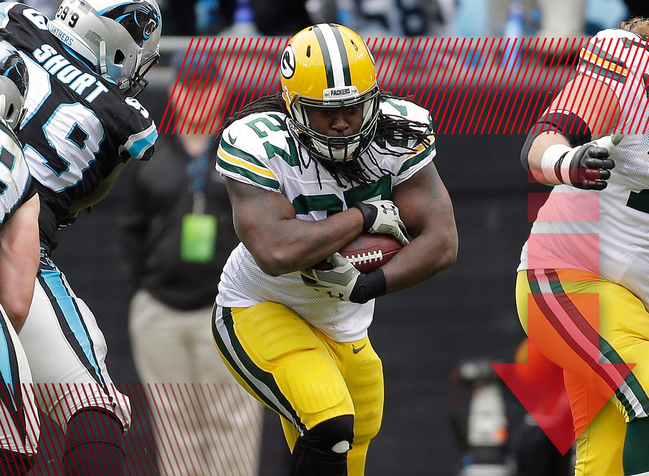 Things have been trending in a negative direction for Lacy for sometime now. But this week was the final straw for plenty of fantasy managers when Packers head coach Mike McCarthy announced that James Starks would take over the starting job. Lacy isn't quite droppable in most leagues, but a backup rusher averaging just 50 scrimmage yards per game can't have a regular spot among your starters.