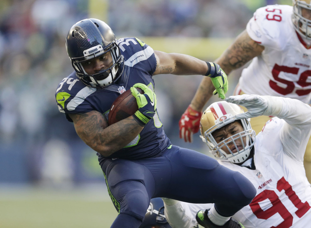 "Marshawn Lynch was a somewhat surprising inactive in Sunday's game against the 49ers, leaving the running back duties to Thomas Rawls. And boy did he stake his claim as the future of this backfield, rushing for 209 yards, adding 46 through the air, and scoring two touchdowns -- good for 37.5 fantasy points, the most in Week 11. Lynch's abdomen injury is of a lingering nature (he's seeing a specialist this week) and could either limit him the rest of the way, or cost him the season, making Rawls a must-add this week. As <a href=""https://twitter.com/LordReebs/status/668587364206444545"" target=""new"">Rich Hribar was the first to note</a>,  Rawls has games of 104, 169 and 209 rushing yards this season, while Lynch has topped 73 rushing yards once in 2015. Even if Lynch gets healthier, this backfield could turn into a RBBC, with Rawls offering weekly flex appeal at worst, RB1-upside at best if Lynch sits. You should go all in on Rawls this week. FAAB Suggestion: 90-100 percent."