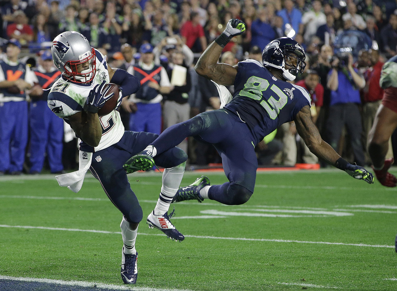 "<a href=""http://www.nfl.com/videos/nfl-cant-miss-plays/0ap3000000467461/Super-Bowl-Can-t-Miss-Play-The-Butler-did-it"" target=""new"">Malcolm Butler's interception</a> of a Russell Wilson pass in the end zone with 20 seconds remaining in the game preserved the Patriots' <a href=""http://www.nfl.com/gamecenter/2015020100/2014/POST22/patriots@seahawks"" target=""new"">fourth Super Bowl win</a> in the Bill Belichick-Tom Brady era. The Patriots entered the final quarter of play down 10 points to the Seahawks, but Brady rallied New England to victory with two fourth-quarter touchdown passes."