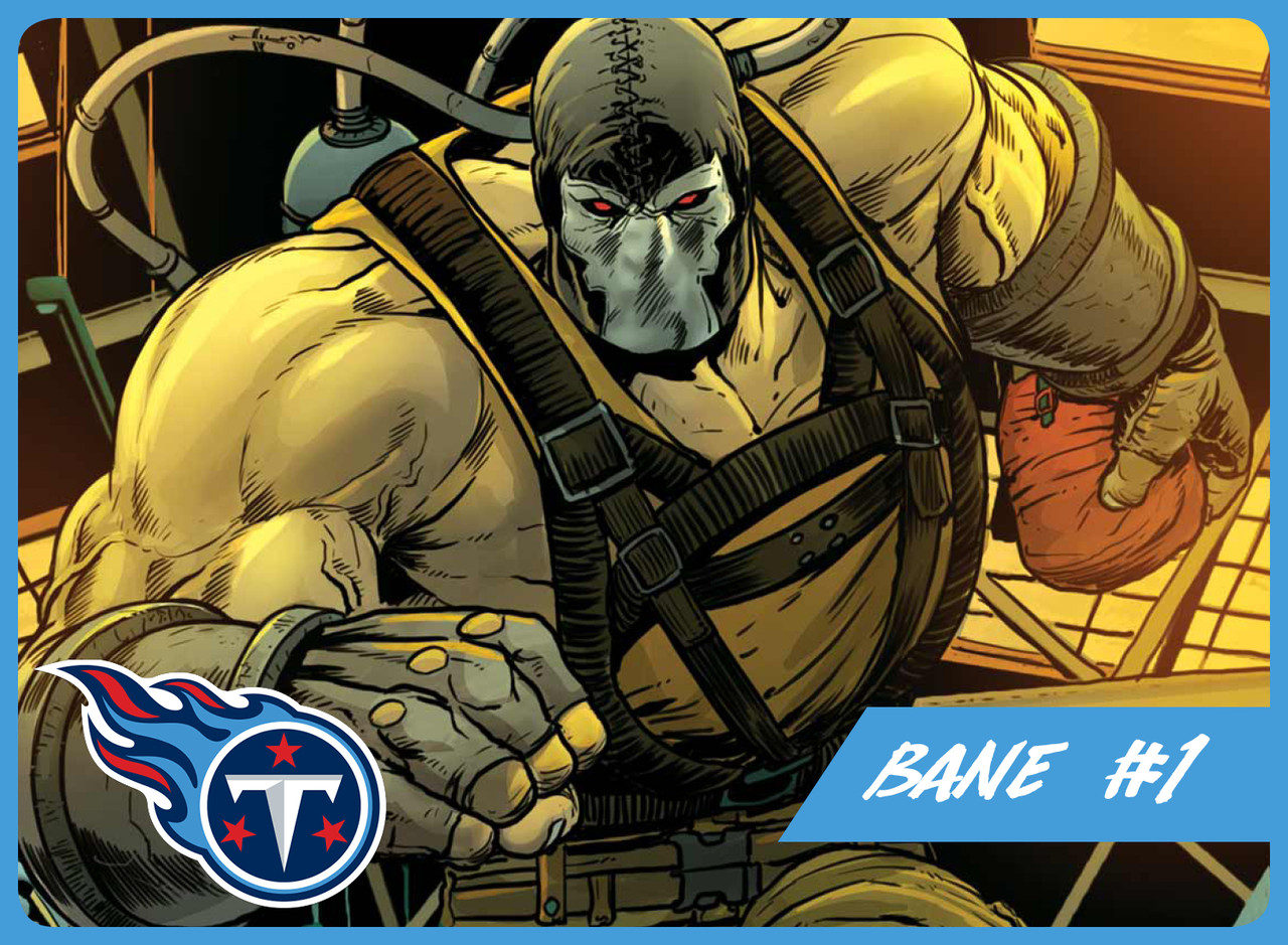 Despite his many off the field issues and inability to get along with teammates at times, Bane has the optimal size and strength to anchor the Titans offensive line for years to come. With Marcus Mariota coming off a strong rookie campaign, their top need is finding a player who can keep the quarterback upright. Bane is known for his backbreaking work ethic, and despite rumors of performance enhancing drug use, the Venom toxin has not been banned yet.