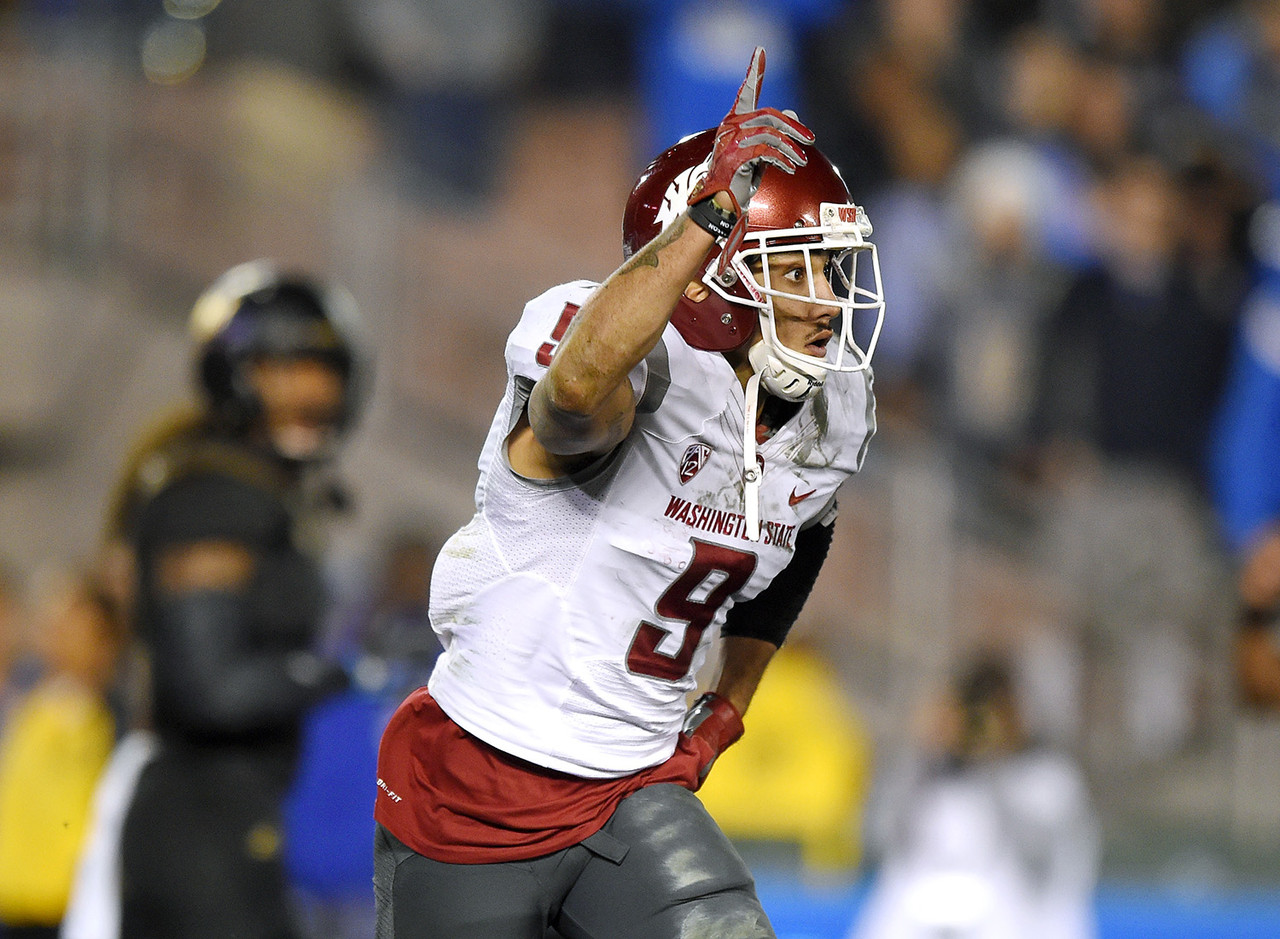 The Cougars star was tempted to make the NFL jump coming off a 104-catch season (1,192 yards, 15 touchdowns). Instead, he'll team up with QB Luke Falk in an effort to once again to shred Pac-12 cornerbacks and show NFL scouts that he's not just a product of WSU's pass-happy offense.