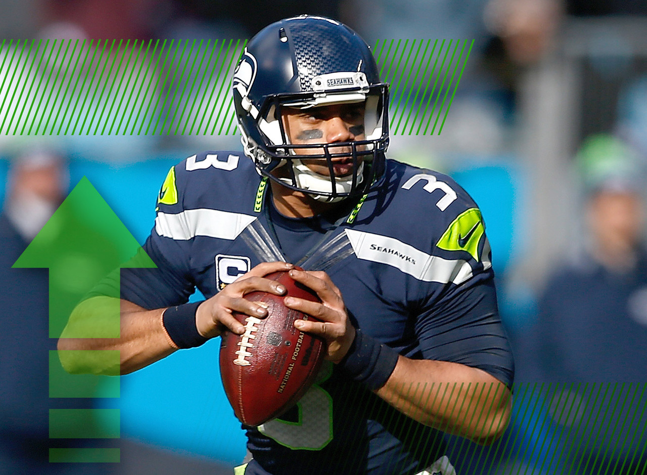 "Pete Carroll is one of the chief smokescreeners out there but when he says Wilson has ""made a clear step ahead,"" it's worth paying attention to. DangeRuss was arguably the hottest quarterback on Earth toward the end of the regular season last year. Now that the Seahawks are trending away from a run-based offense, this looks like the year that Wilson truly spreads his wings. He's already looking like the third-best quarterback in fantasy, but maybe now he jumps into the top two. Crazier things have happened."