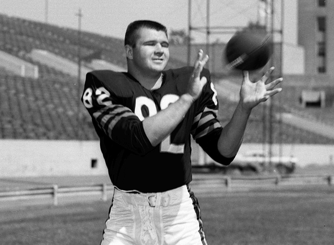 <i>Chicago Bears, 1961-66; Philadelphia Eagles, 1967-68; Dallas Cowboys, 1969-1972.</i><br /> <br /> The first tight end inducted into the Pro Football Hall of Fame might not have been a great receiver, but he <i>was</i> one tough guy. He lined up inside, almost like a tackle, and was a real asset as a blocker. He was also an outstanding basketball player at Pittsburgh. He's one of the most competitive individuals I've ever seen -- whether he's playing football, checkers, darts or cards. After he retired, he joined the Cowboys coaching staff, and he used to play cards on the way home from our games. He'd always get his clock cleaned by Dan Reeves, who was good at everything. Ditka would throw his cards and Tom Landry would just give him the stare. On the field, he was like a man for whom the game was never over, no matter what -- he always gave it his all until the final whistle.