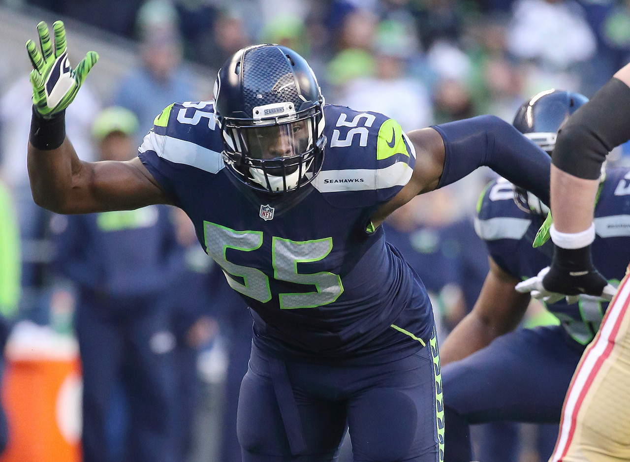 The Seahawks were willing to let Bruce Irvin walk as a free agent due to Clark's potential impact as a premier pass rusher off the edge. The 6-foot-3, 272-pound defensive end flashed strong hands and an explosive first step as a rookie, notching three sacks in limited action, but he should triple that number with more opportunities as an inside-outside pass rusher in sub-packages.