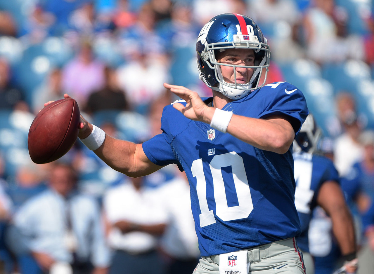 "This is the year for Eli. If ever he is going to prove himself as the ""elite"" QB his supporters claim he is, 2016 is the time. New York has a better defense, meaning Manning won't be compensating. He's been highly effective in Ben McAdoo's offense over the last two years. Victor Cruz is back in the fold (<a href=""http://www.espn.com/blog/new-york-giants/post/_/id/47546/victor-cruz-faces-one-of-the-biggest-weeks-of-his-giants-career"" target=""_blank"">we think</a>), Odell Beckham Jr. is a stud and rookie Sterling Shepard is garnering plenty of buzz entering this season. Tom Brady is out four games, Cam Newton could come back to Earth a bit, so ... Why not?"