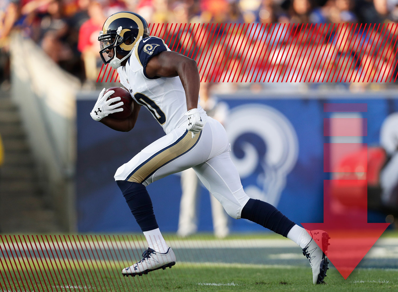 Normally it doesn't make sense to panic after a player has a bad Week 1. But in Gurley's case I'm willing to make an exception. I'm not sure there's a word in the English language that accurately conveys how terrible the Rams offense looked on Monday night against the 49ers. Gurley is still an extremely talented player, but if he's the team's only weapon, it's not going to end well. With Case Keenum expected to start this week against the Seahawks, it would be foolish to expect a rebound from Gurley in Week 2.