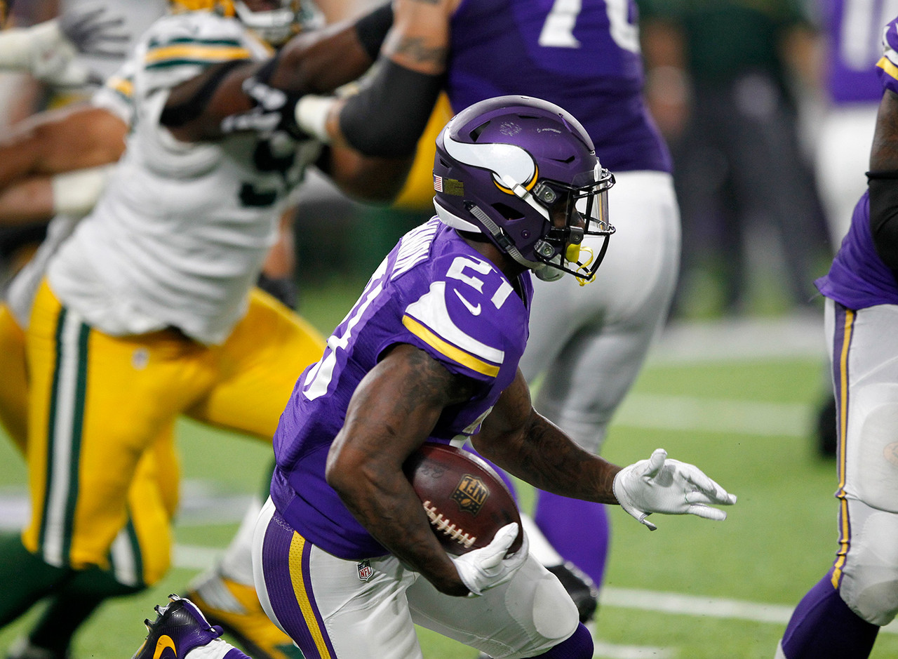 Even though the Vikings were riding high as they took a 17-7 lead over the Packers, a dark cloud was still settling over Minneapolis. Adrian Peterson was helped to the locker room after suffering a knee injury, and he did not return. That makes the electric Jerick McKinnon the top add in fantasy this week, as he's set to inherit a massive workload. McKinnon is a capable between the tackles runner, but also offers more in the passing game than Peterson. He's a phenomenal athlete who might finally have a chance to shine in what could be a surprisingly good offense. Matt Asiata will certainly play a role too, but McKinnon is worth going nearly all-in on this week on waivers if he's still available. FAAB Suggestion: 50-plus percent.