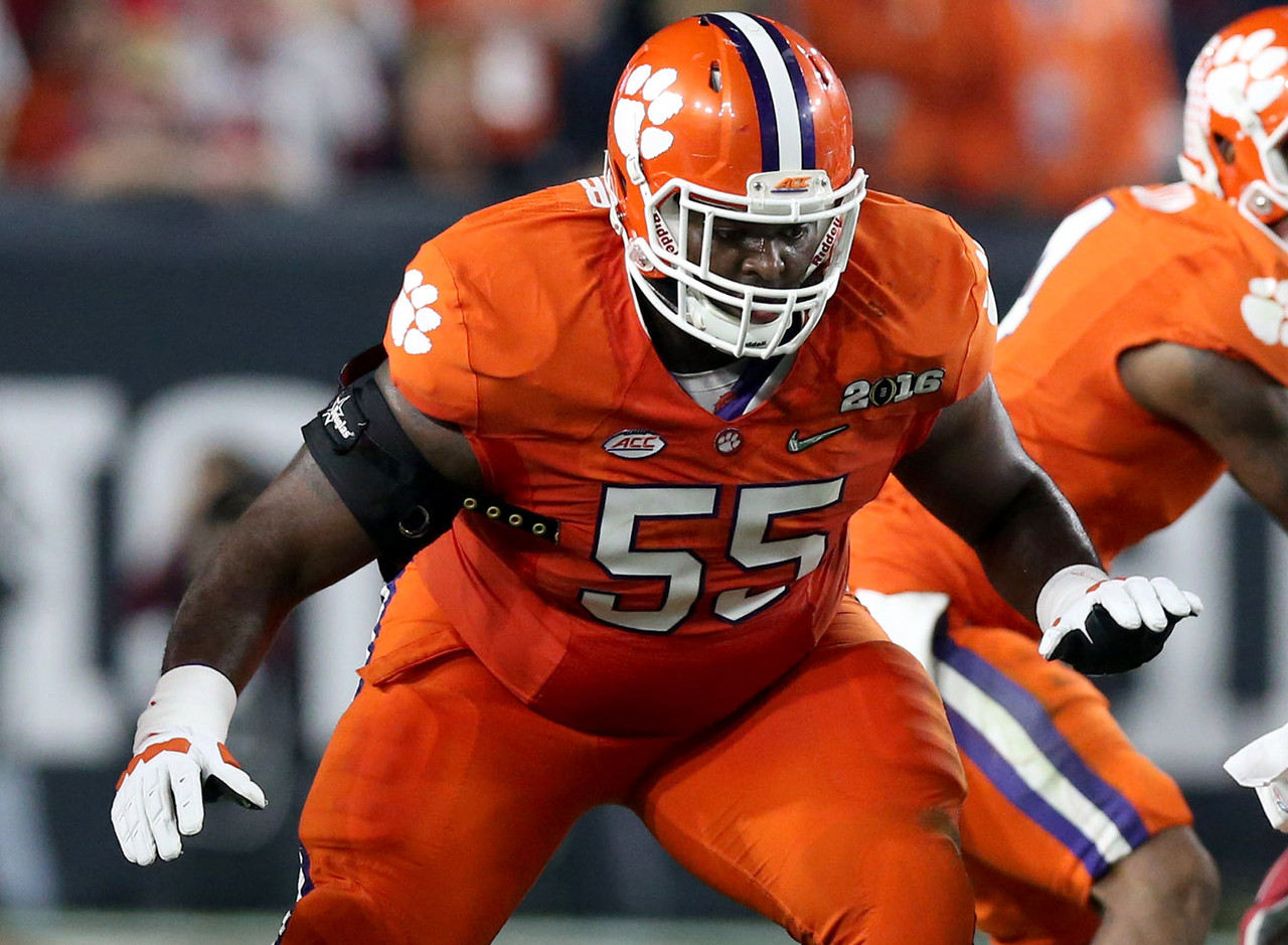 "With apologies to all their other Clemson Tigers with NFL potential that could have been ranked here (there are many), I'm going with one of the ""big uglies"" for the last spot on this list. Crowder is a short, squatty guard who plays with a nasty streak that NFL offensive line coaches love. He's listed at 6-foot-2, though I'm guessing that's a bit kind. His low center of gravity and 340-pound build are the reasons he's so successful as a run blocker, however. Crowder will attempt to get under the pads of Buckeyes defensive linemen in the run game, and despite his weight, he's able to hit targets off the line to free up the second level for Wayne Gallman and Co."