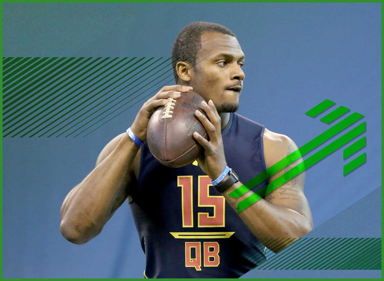 In a quarterback class lacking a consensus top option, Watson did a lot this week to vault toward the top of the list. Crush the combine interviews? Check. Show well in the athletic testing? Check. Impress in the throwing portion of the proceedings? Check and mate. Watson is far from a perfect prospect, but he's a strong candidate to be a Week 1 starter somewhere in the league. That will give him strong value in dynasty rookie drafts and make him a worthy flier in plenty of redraft.