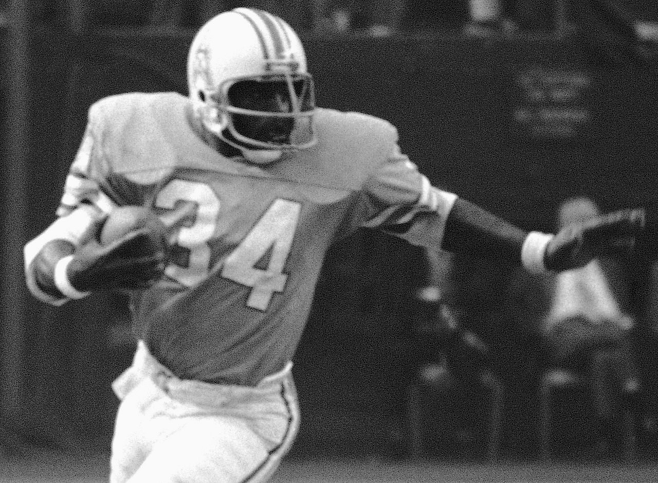 <b>Drafted by:</b> Houston Oilers, 1978.<br /> <br /> Quite simply the greatest power back in NFL history. Campbell pummeled his way through the league, leading the NFL in rushing with 1,450 yards as a rookie, 1,697 in Year 2 and a staggering 1,934 yards in 1980. Think about those numbers, then realize he did it all while running through people. Like, plowing them over, often 30 times a game.