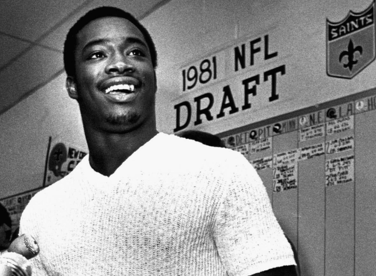 <b>Drafted by:</b> New Orleans Saints, 1981.<br /> <br /> You won't find too many No. 1 overall picks who paid more immediate dividends than Rogers, who led the NFL in rushing with a whopping 1,674 yards as a rookie. Rogers ran for 1,000 yards twice for the Saints and twice for the Redskins, and he even won a Super Bowl ring with Washington in his final season. Oh, and Rogers' rookie rushing total still ranks second all time.