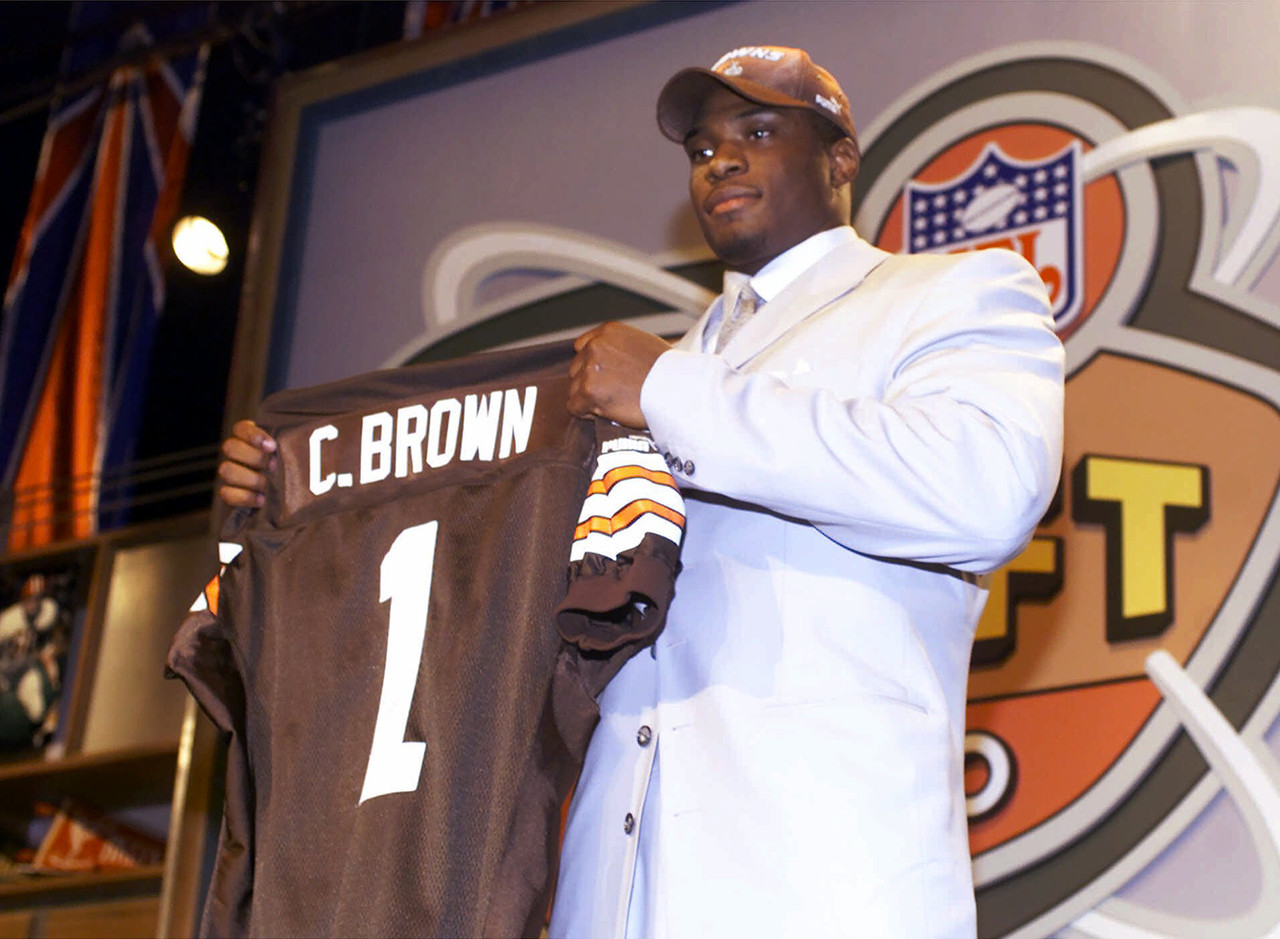 <b>Drafted by:</b> Cleveland Browns, 2000.<br /> <br /> Brown's career didn't go the way media or the fans expected, but the man himself accepted. A quiet player, Brown maybe didn't take his on-field struggles in stride internally, but he kept plugging away through several injury setbacks. His career as a pass rusher (17 sacks in five years with Cleveland) and a first-round pick was one of many developments to set the Browns back. What was known then but not remembered now is that this guy flashed serious potential before suffering ankle and knee injuries. He had microfracture surgery in the early 2000s when that wasn't really a thing yet. It wrecked his career. This was a defensive end who ran a 4.52. Think about that.