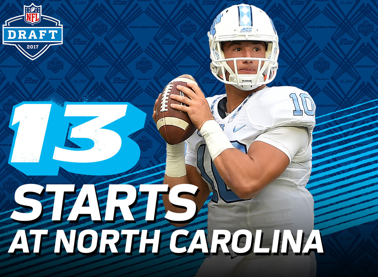 North Carolina's Mitchell Trubisky could become the first quarterback selected in the first round with fewer than 15 NCAA starts at the position since Cam Newton in 2011. Trubisky made only 13 starts at UNC, while Newton made only 14 starts at Auburn.