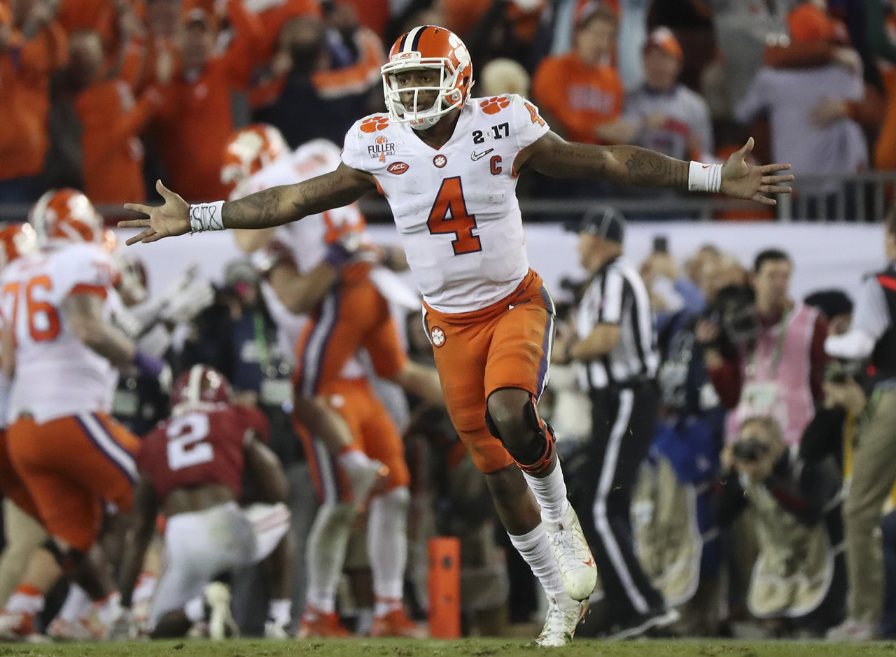 The ultimate big-game quarterback steps into a perfect situation with a strong supporting cast and championship-caliber defense behind him. Watson's experience and winning pedigree at Clemson will help him shine as a rookie starter for a team with Super Bowl aspirations.